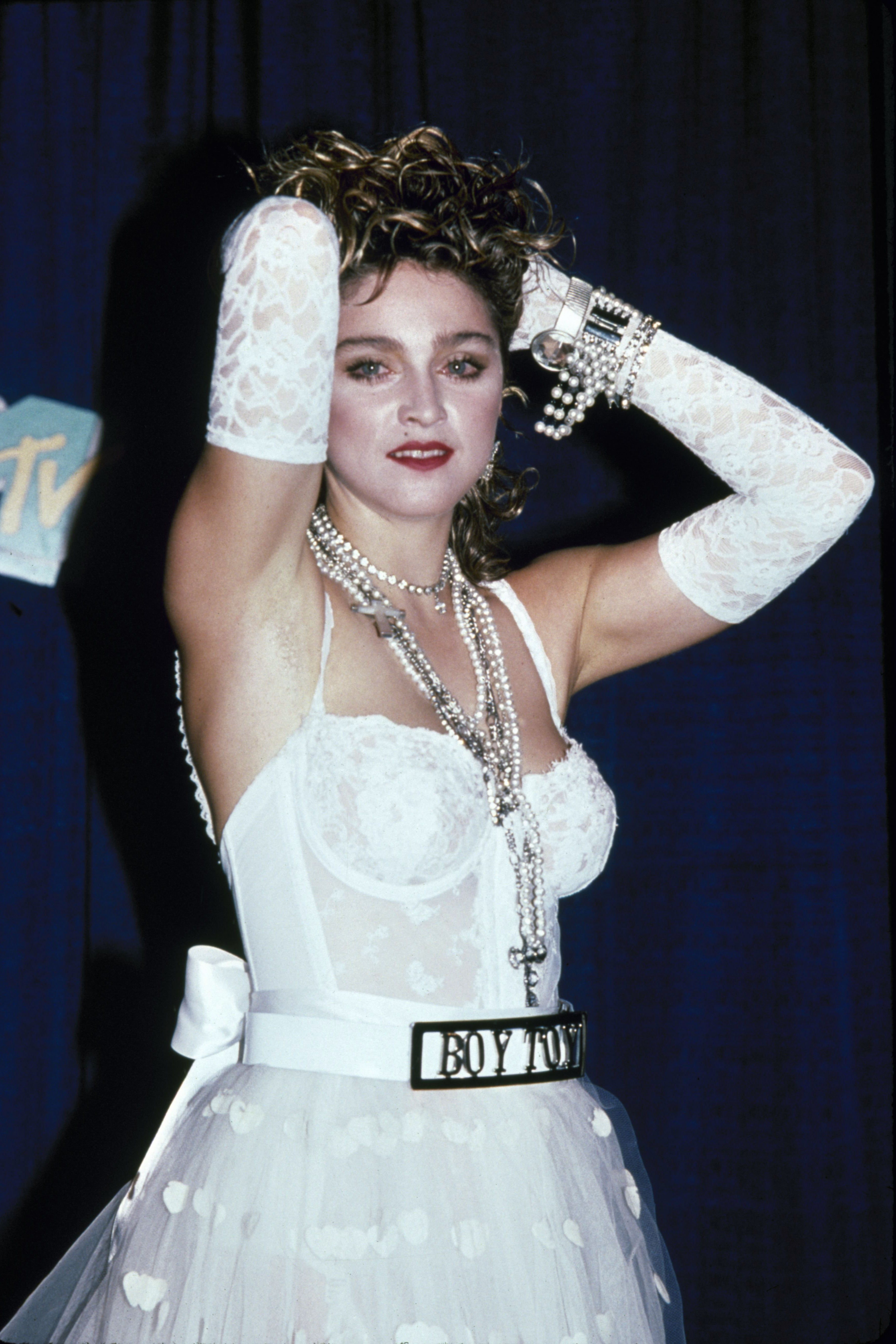 Madonna attends the MTV Video Music Awards in New York City on Sept. 14, 1984.