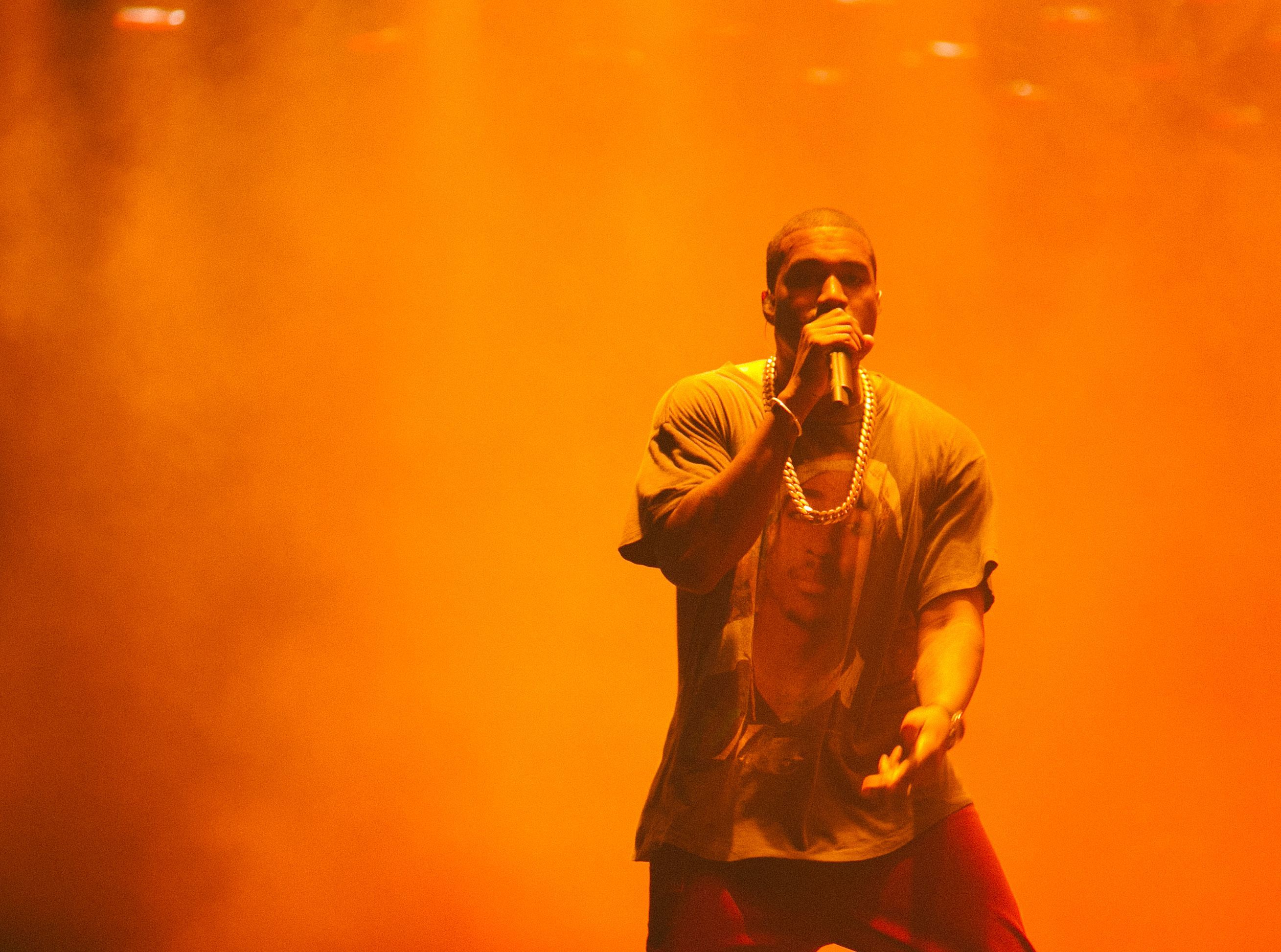 Kanye West performs at The Meadows Music and Arts Festival in New York City on Oct. 2, 2016.