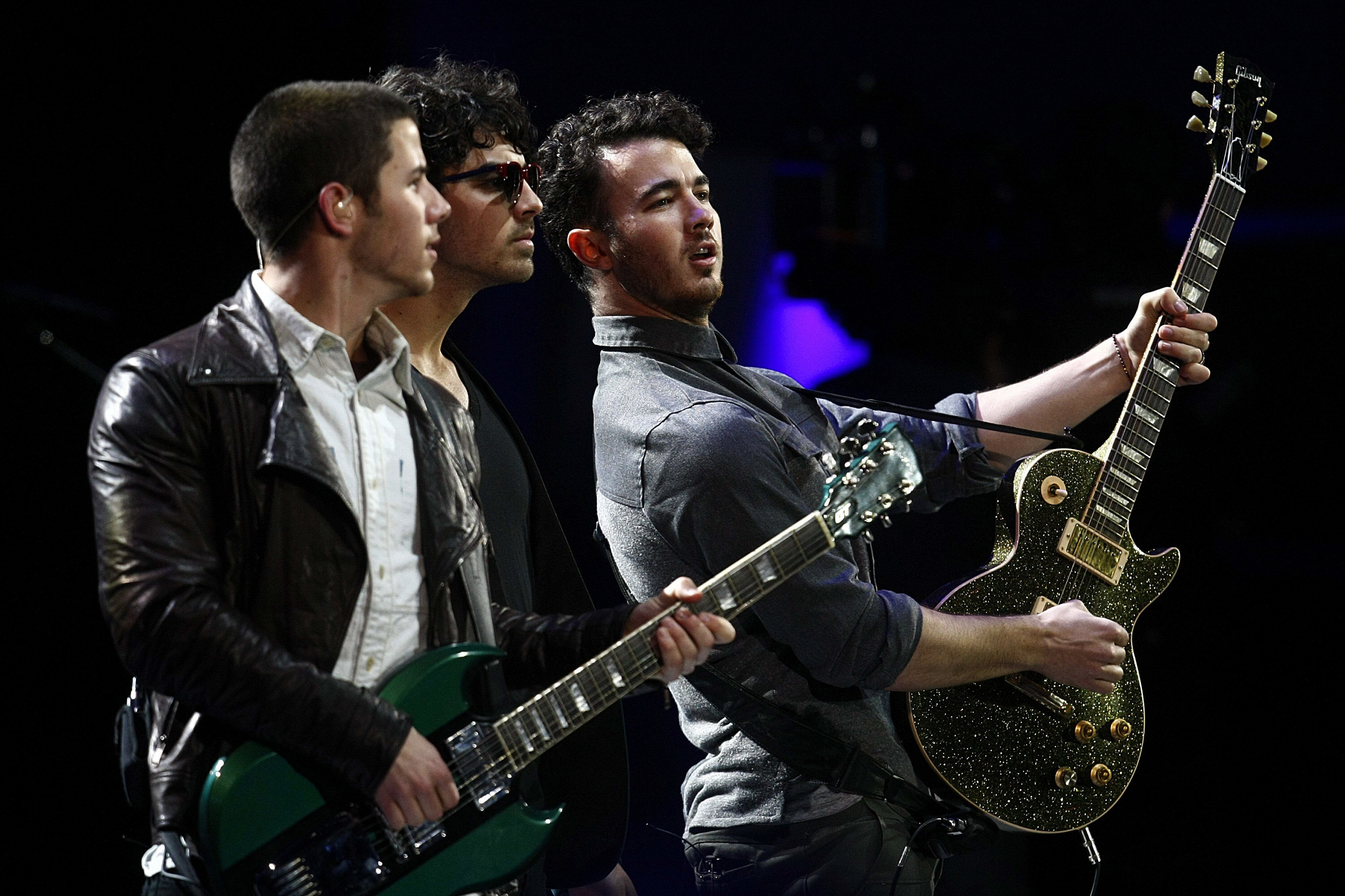 The Jonas Brothers perform at the International Vina Del Mar Music Festival at Vina Del Mar in Chile on Feb. 26, 2013.