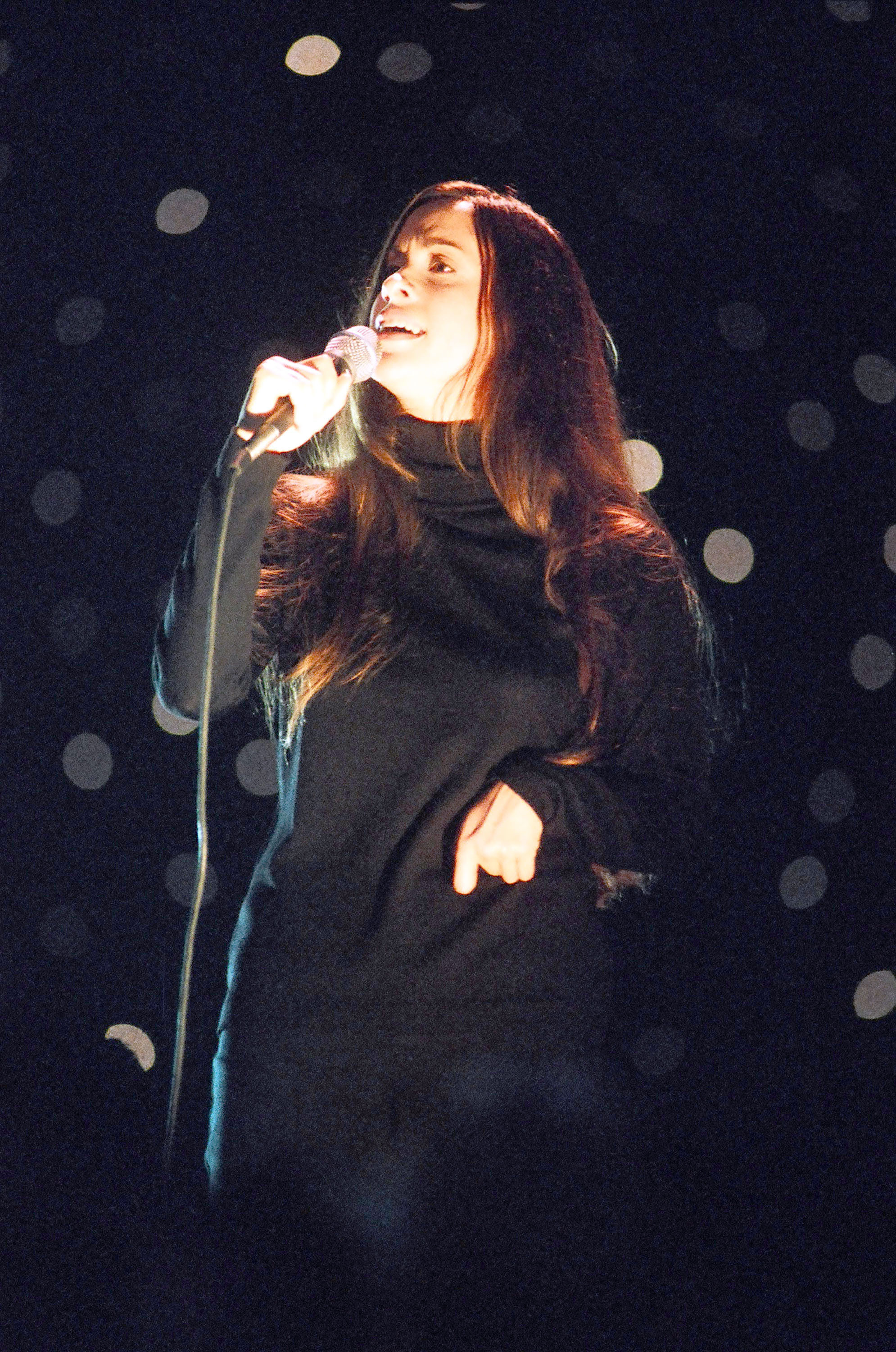 Alanis Morissette performs at the MTV Video Music Awards at Radio City Music Hall in New York City on Sept. 4, 1996.