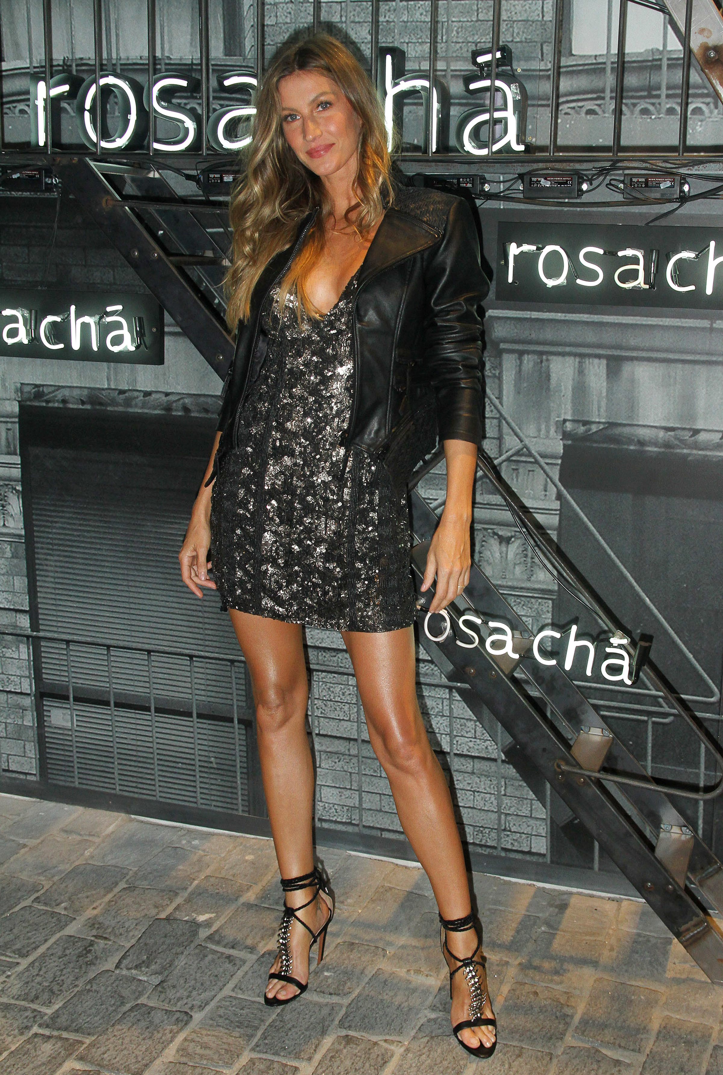 Gisele Bundchen attends the Rosa Cha Summer Collection Launch Event in Sao Paulo, Brazil, on Aug. 16, 2017.