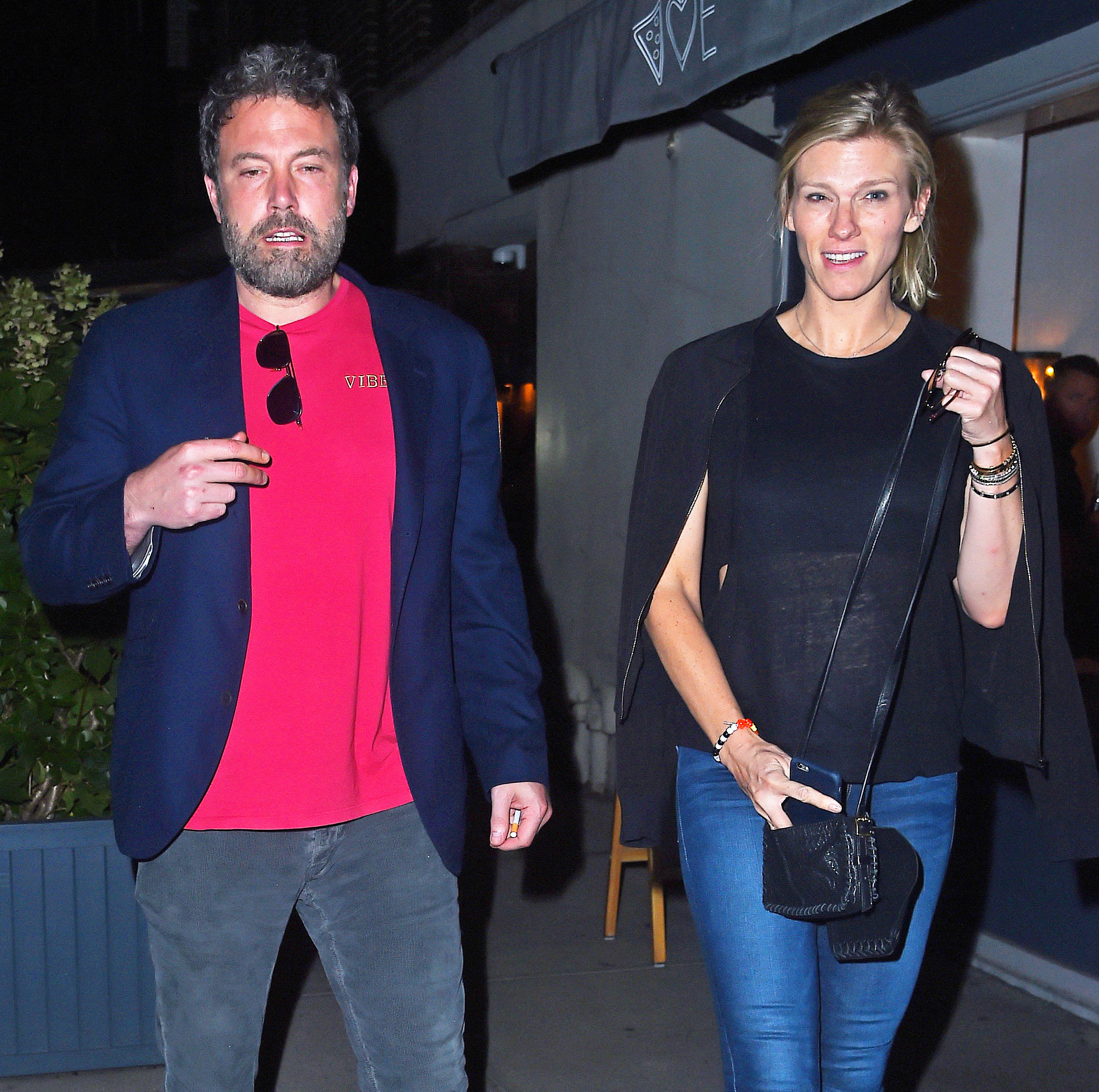Ben Affleck and Lindsay Shookus step out for a date night in New York City