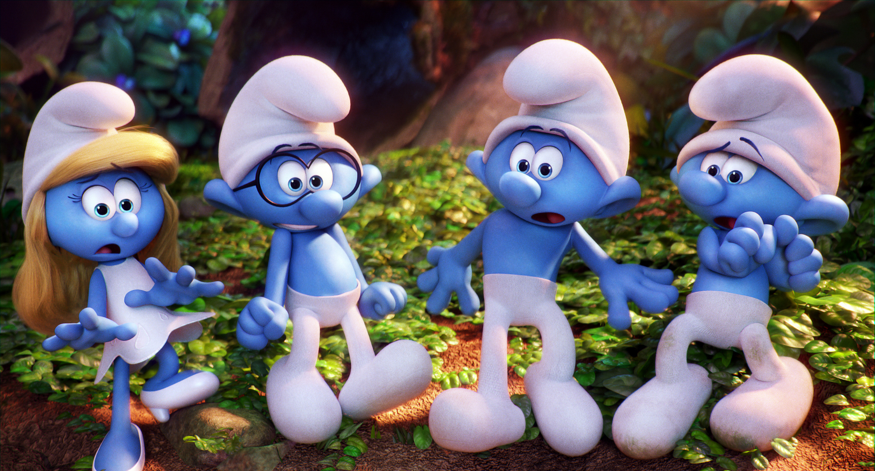 "A still from 2017's ""Smurfs: The Lost Village."""