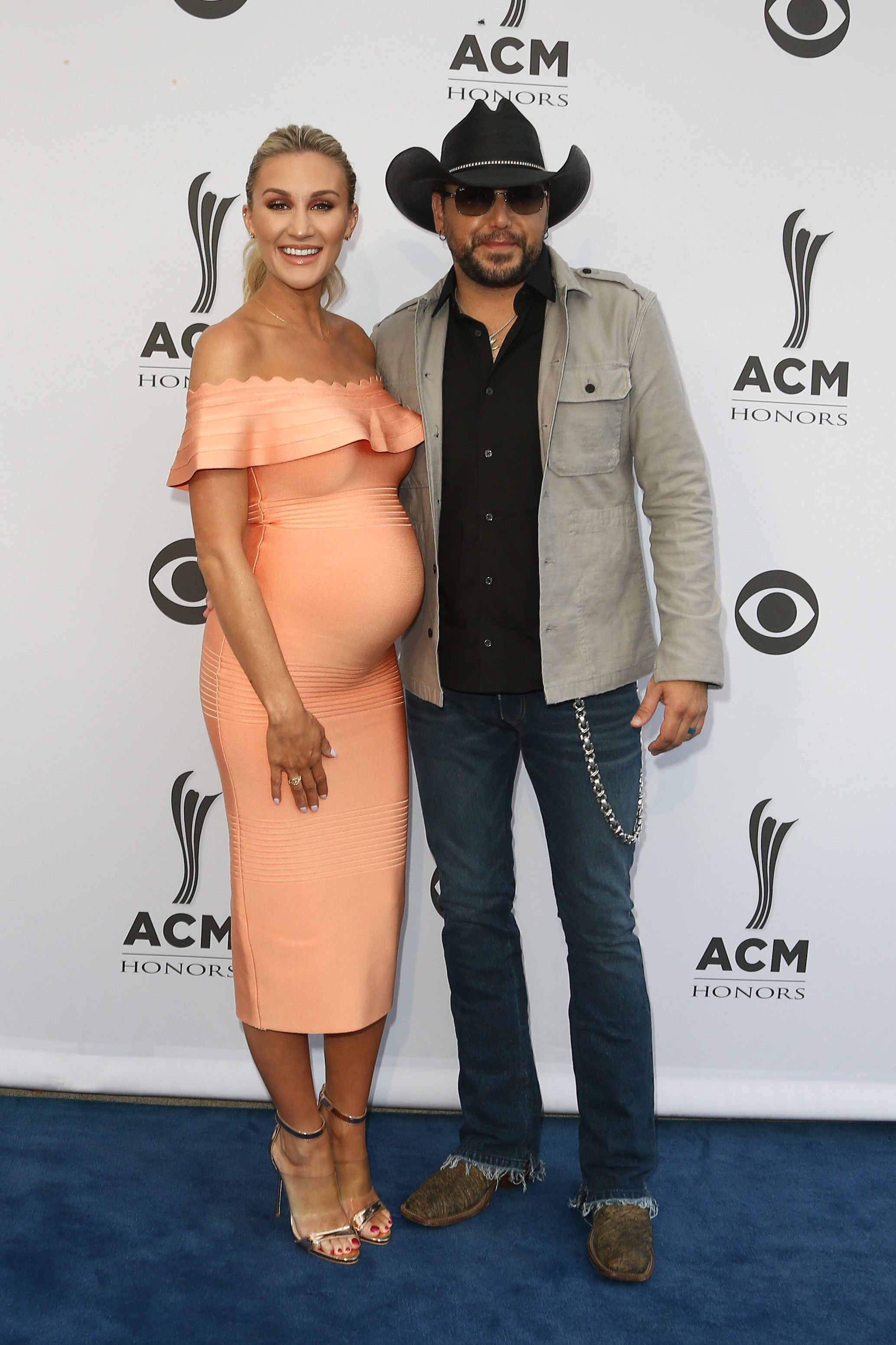 Brittany Kerr and Jason Aldean attend the 11th Annual ACM Honors in Nashville, Tenn., on Aug. 23, 2017.