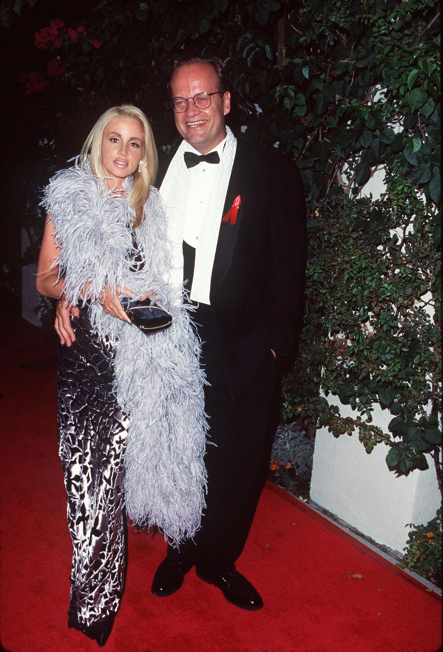 Kelsey Grammer and wife Camille Grammer arrive at the 49th Annual Primetime Emmy Awards at the Pasadena Civic Auditorium in Pasadena, California, on Sept. 14, 1997.