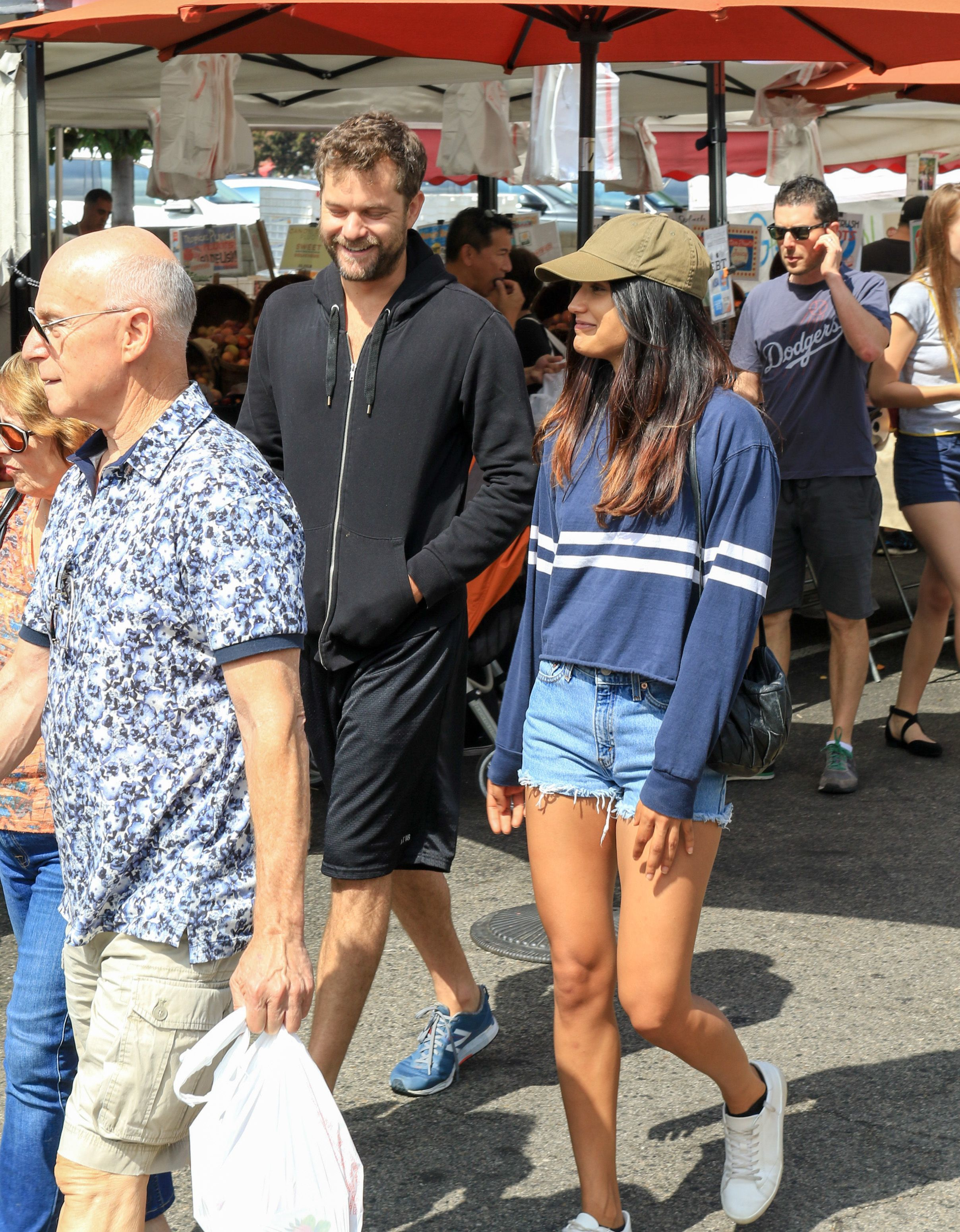 Joshua Jackson steps out with Shafia West in Los Angeles on Aug. 20, 2017.