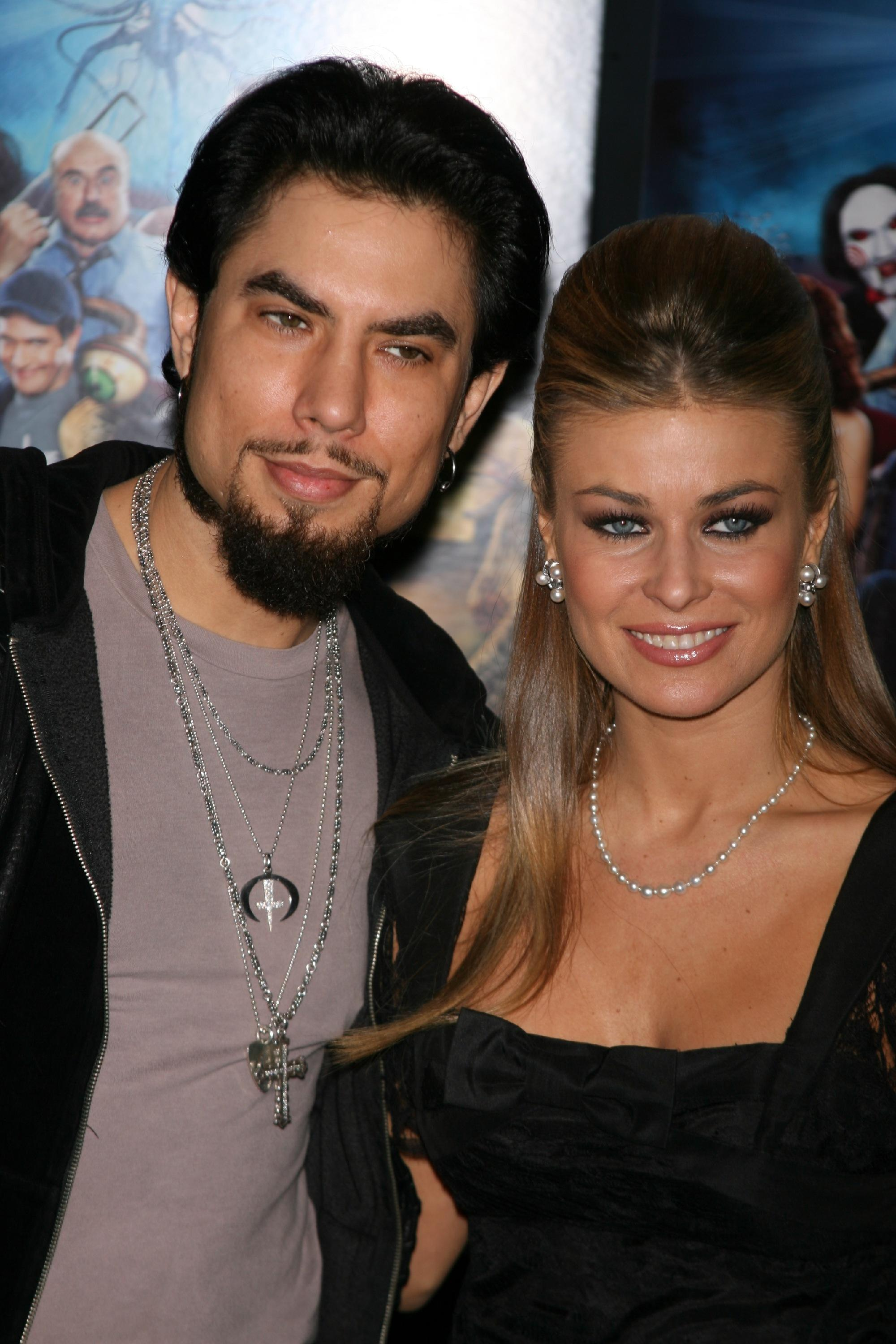 "Dave Navarro and Carmen Electra attend the premiere of ""Scary Movie 4"" at the AMC Loews Theater in New York City on April 10, 2006."