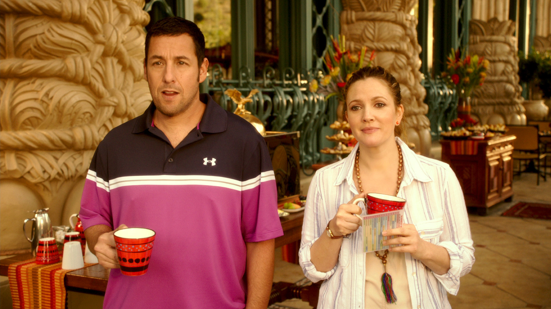 "Adam Sandler and Drew Barrymore in ""Blended"" in 2014."