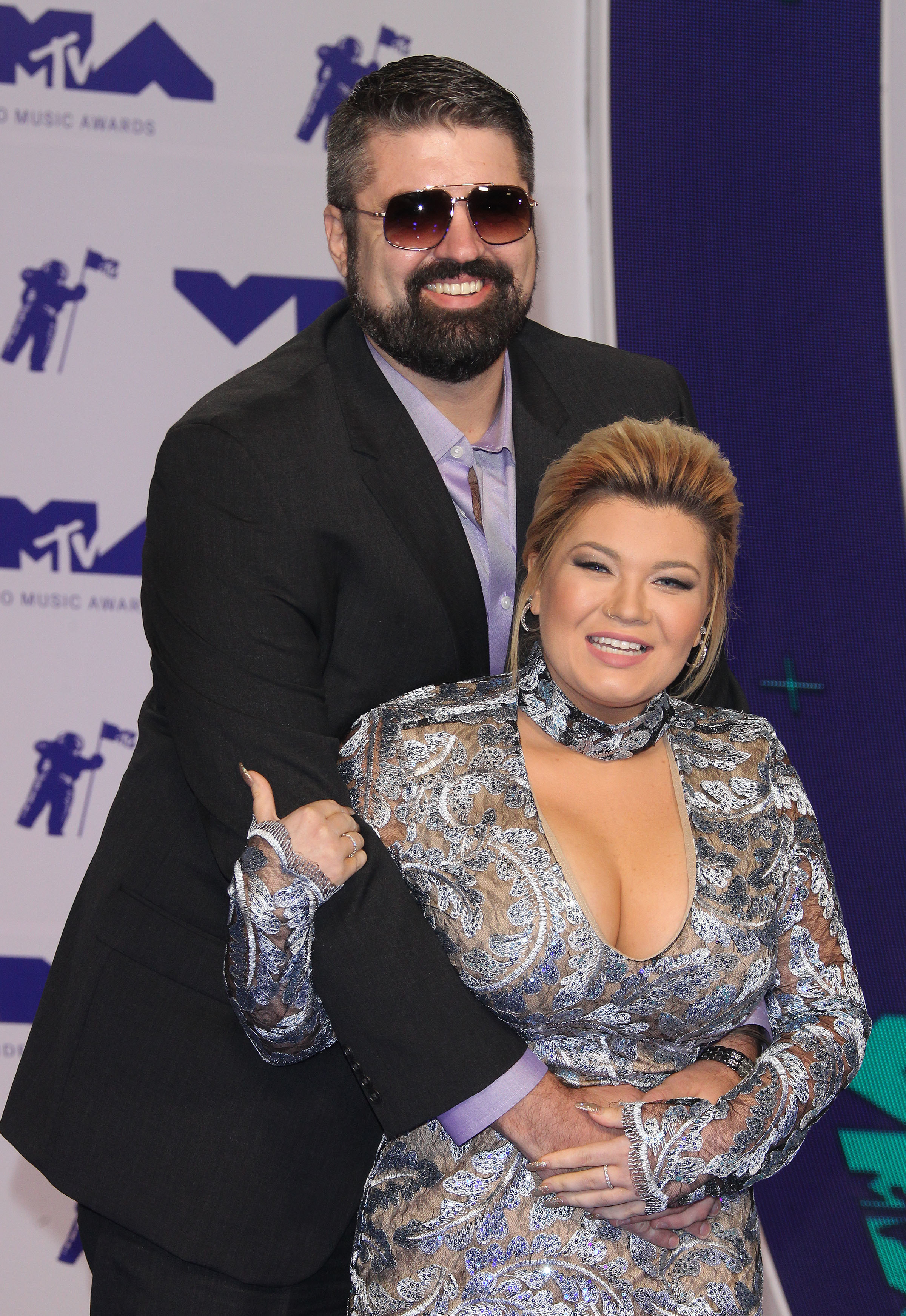 Amber Portwood and Andrew Glennon at the MTV VMAs in Los Angeles on Aug. 27, 2017.