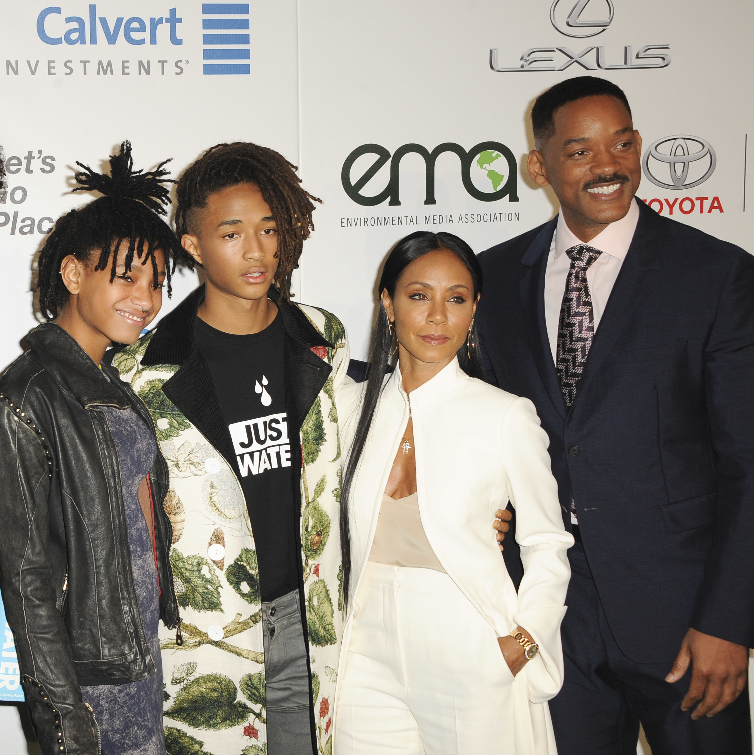 Will Smith, Jada Pinkett Smith, Willow Smith, Jaden Smith attend the 26th Annual Environmental Media Awards  in Los Angeles on Oct. 22, 2016.