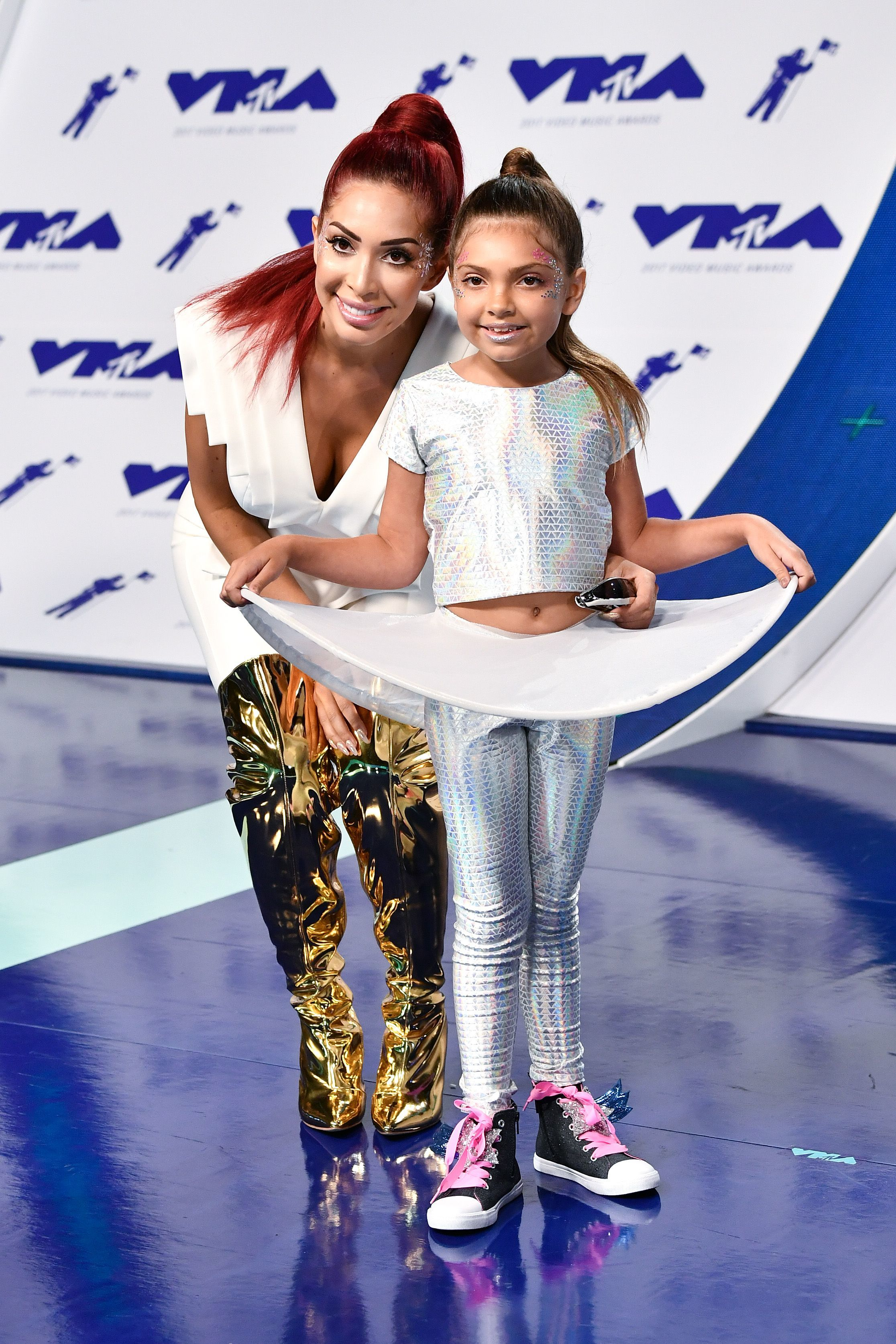 Farrah Abraham and Sophia Abraham were too cute at the MTV Video Music Awards in Los Angeles on Aug. 27, 2017.