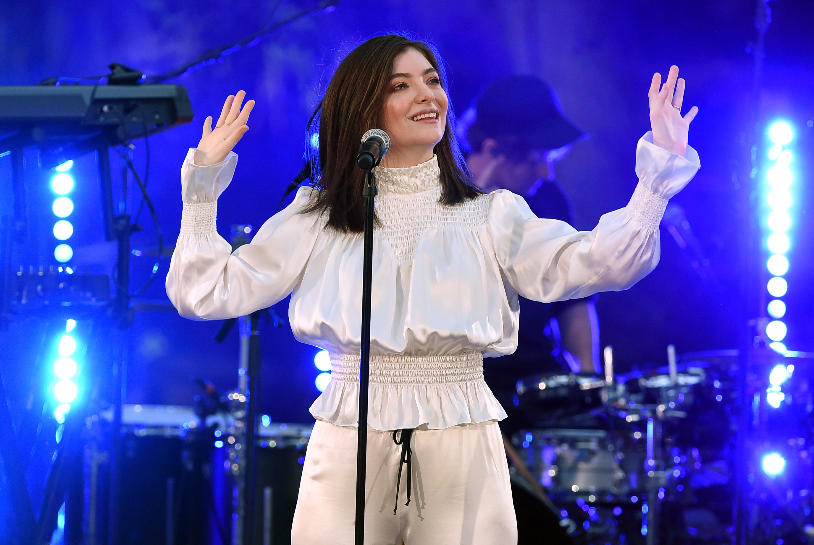 Lorde performs during the iHeartRadio Secret Sessions by AT&T at the magical Houdini Estate in Los Angeles on Aug. 29, 2017.
