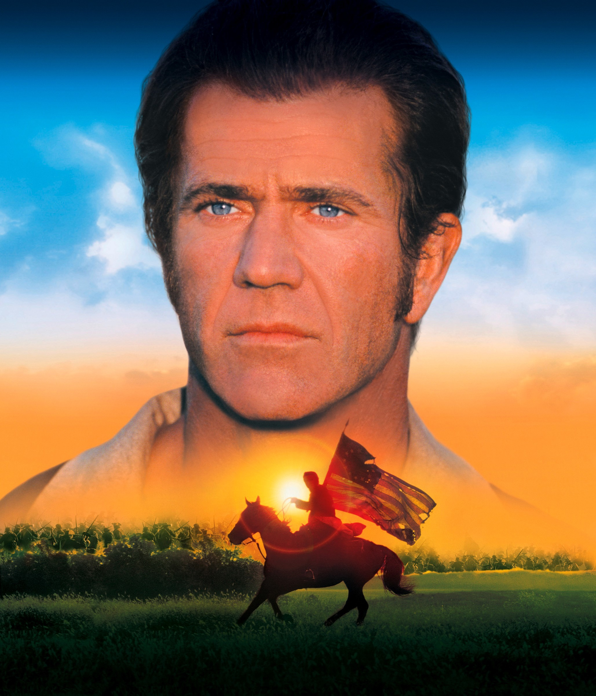 """Mel Gibson appears on the movie poster for 2000's """"The Patriot."""""""