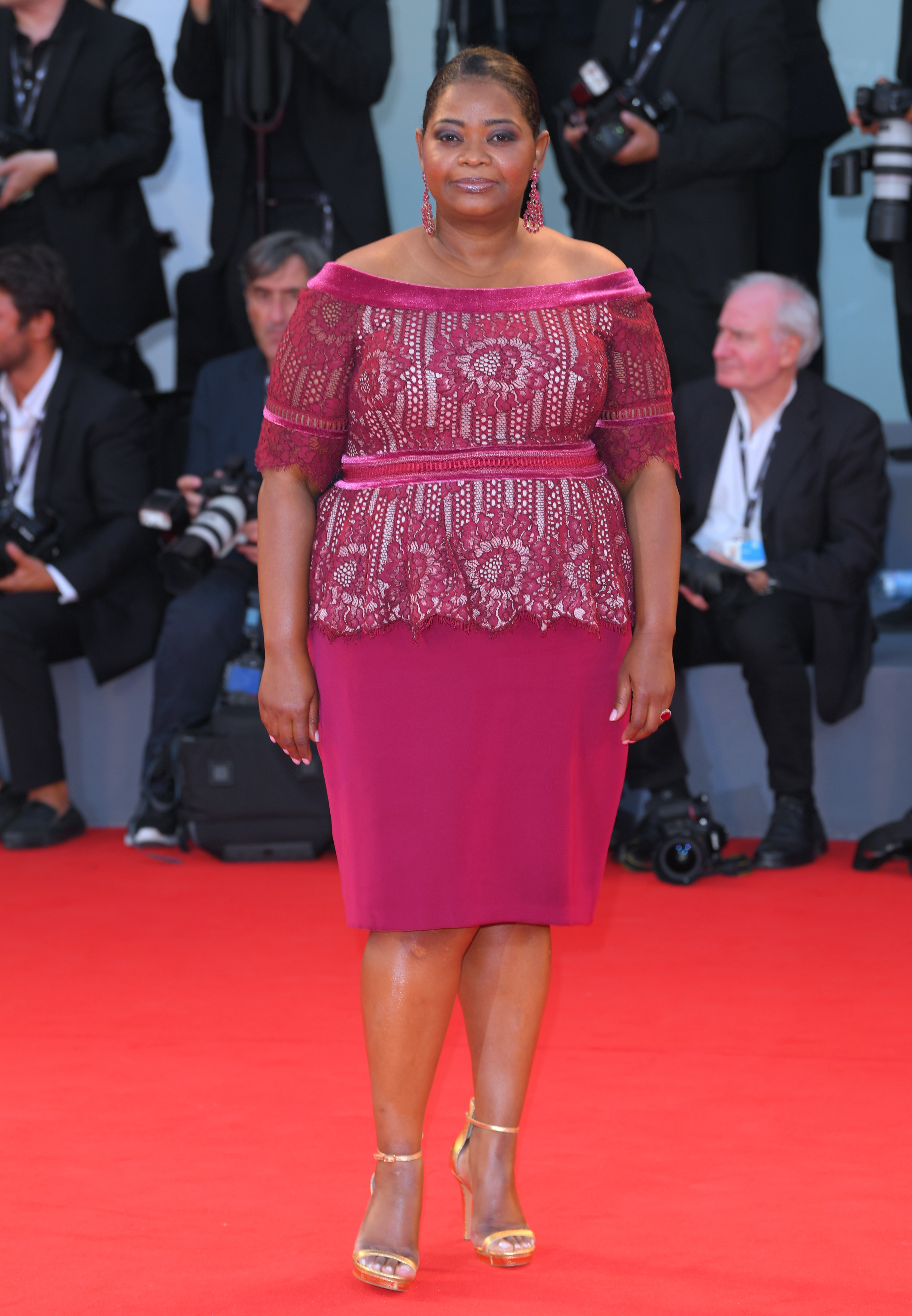"""Octavia Spencer attends """"The Shape Of Water"""" premiere at the 74th Venice International Film Festival on Aug. 31, 2017."""