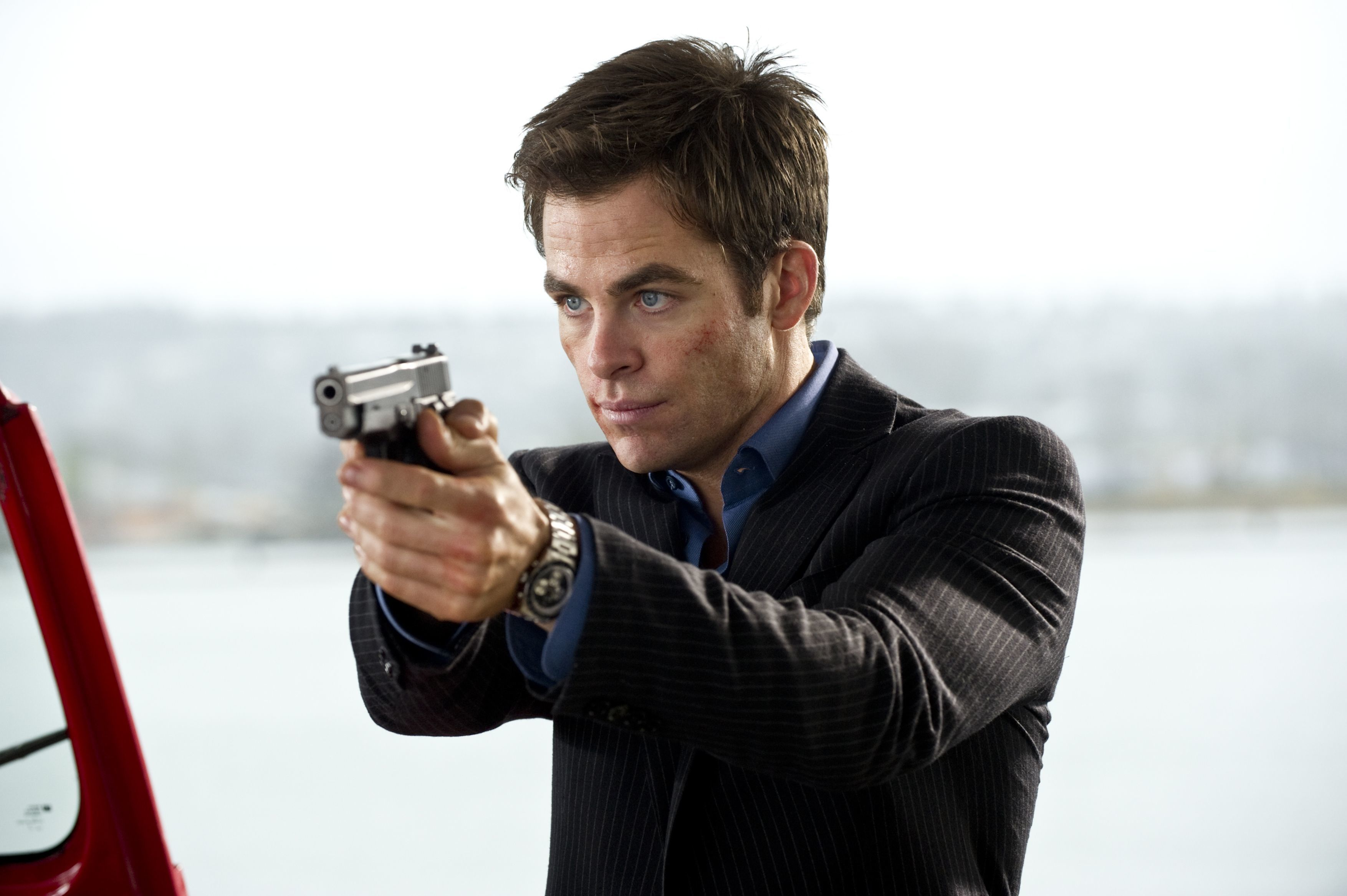 """Chris Pine stars in """"This Means War"""" in 2012."""