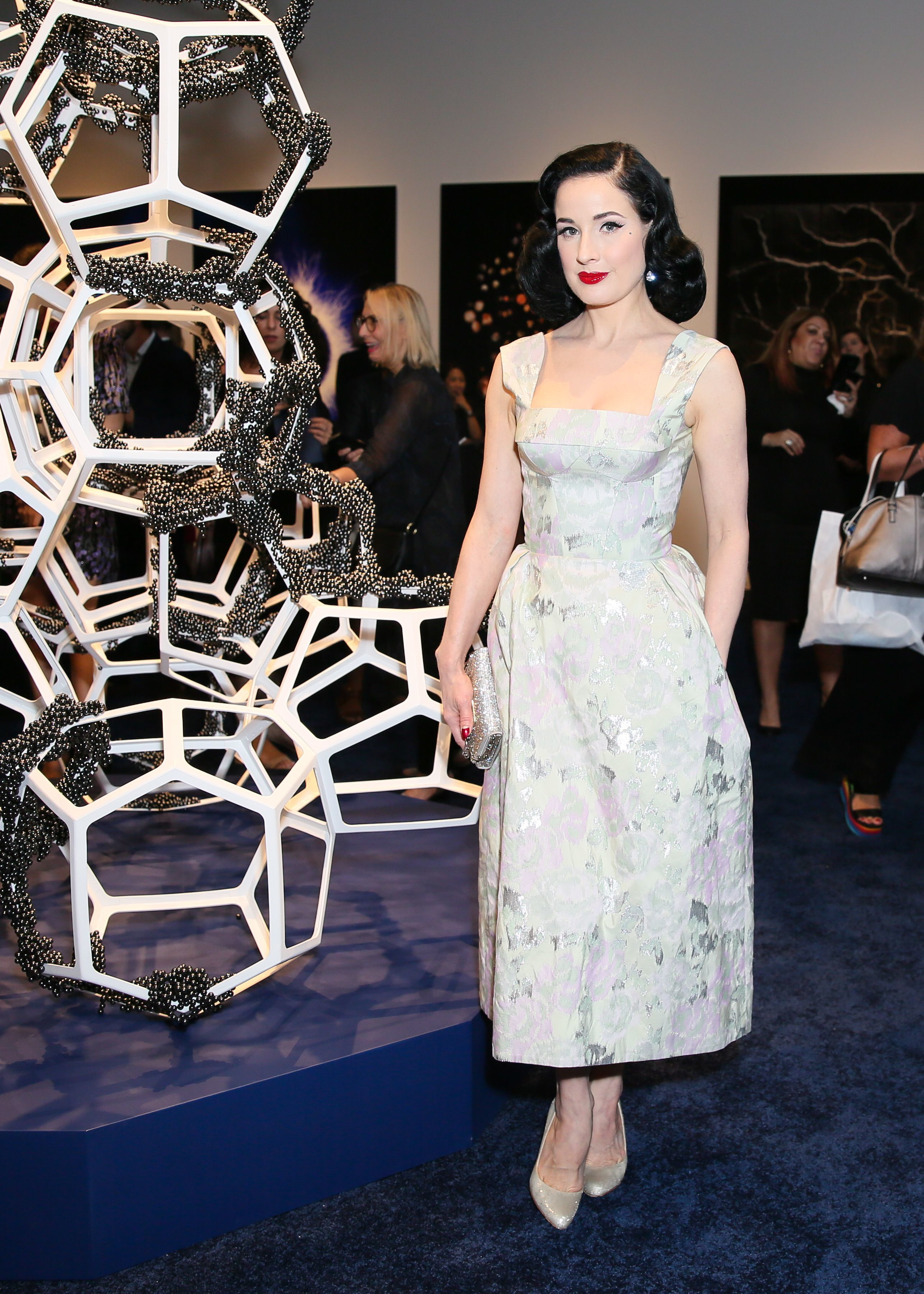 Dita Von Teese attends the La Prairie Presents: The Art of Caviar   Vernissage Evening in New York City on Sept. 6, 2017.