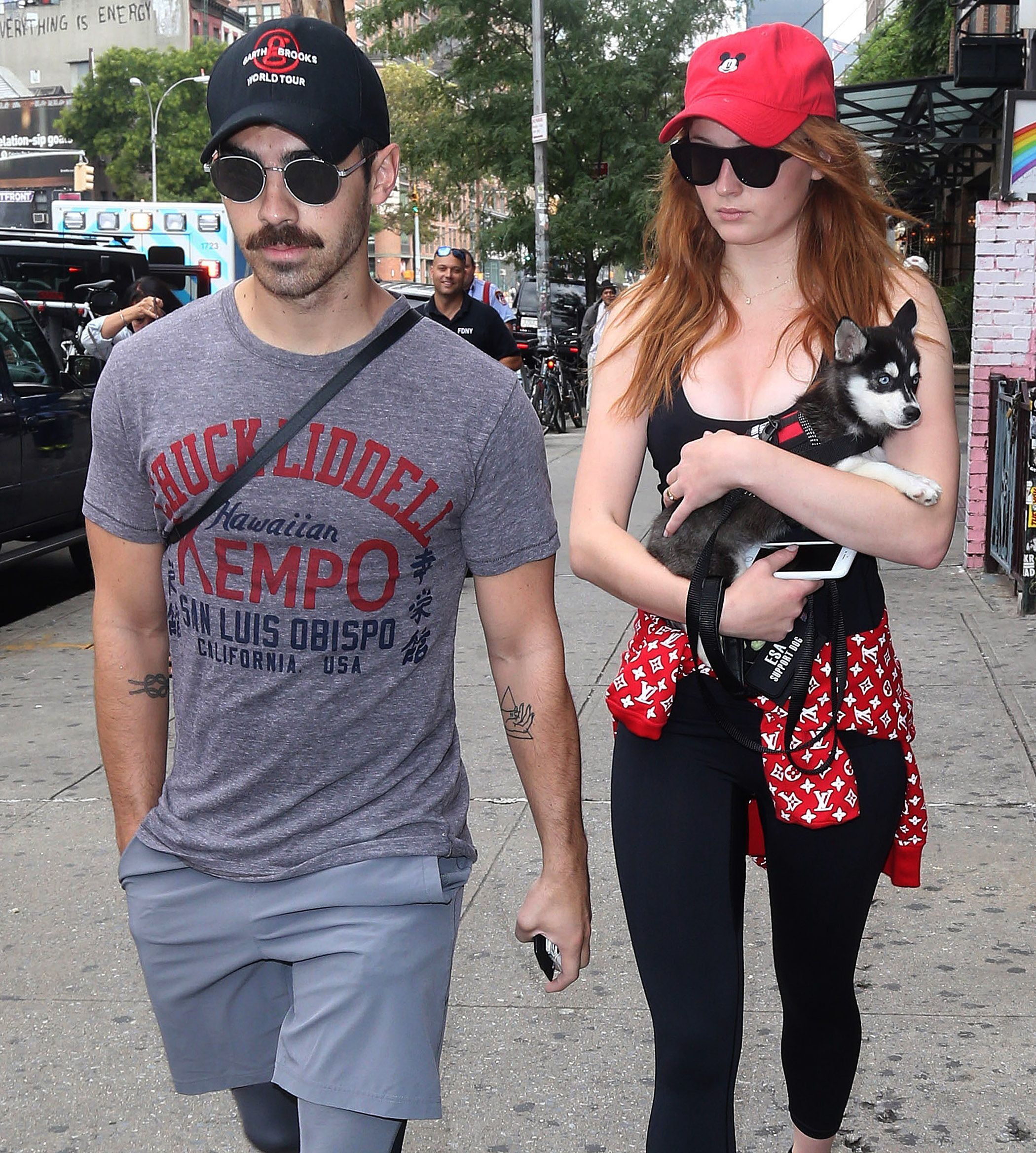 Joe Jonas and Sophie Turner are spotted out and about in New York City on Sept. 7, 2017.