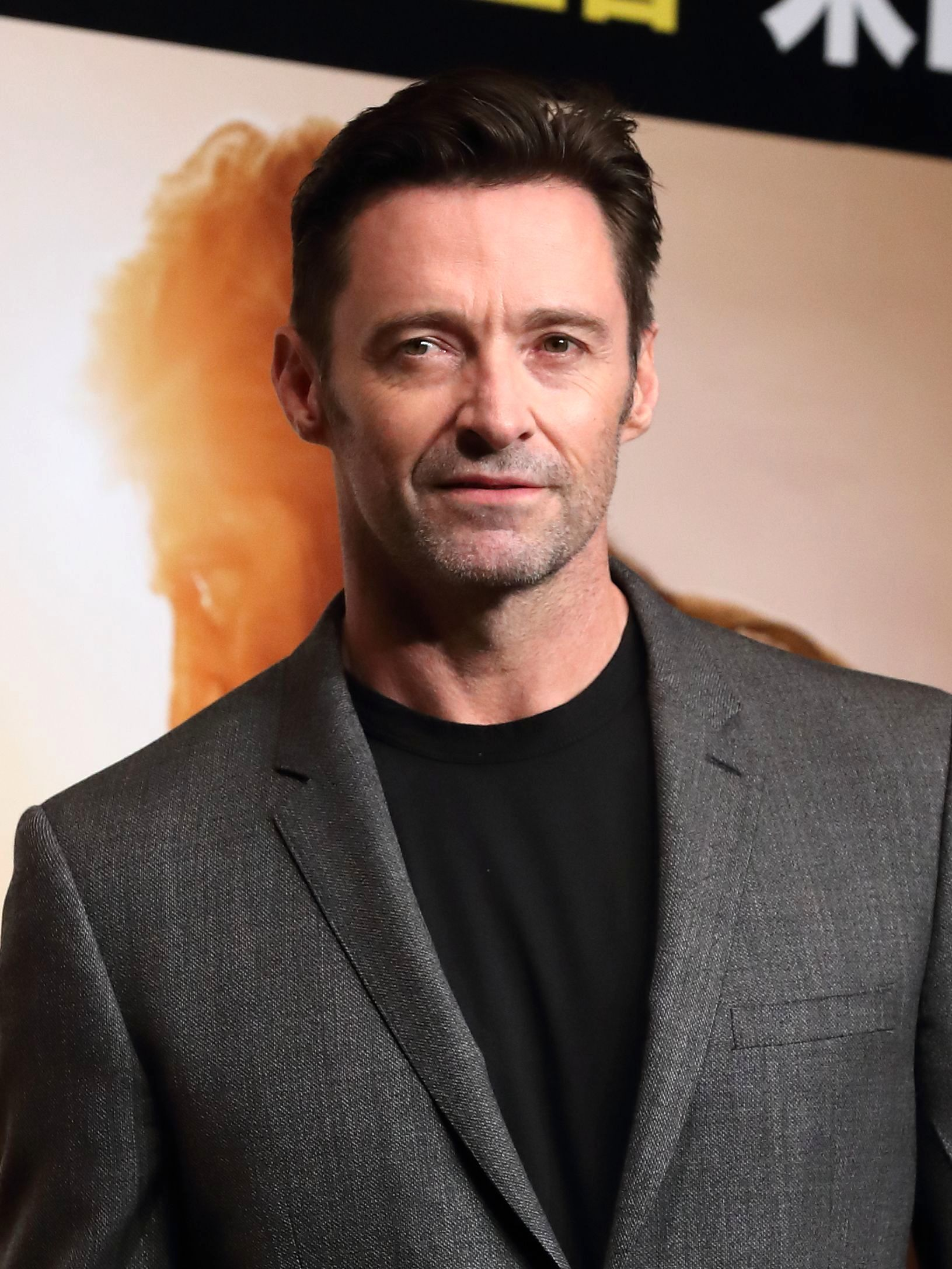 "Hugh Jackman arrives at the ""Logan"" film press photo call in Tokyo on May 25, 2017."