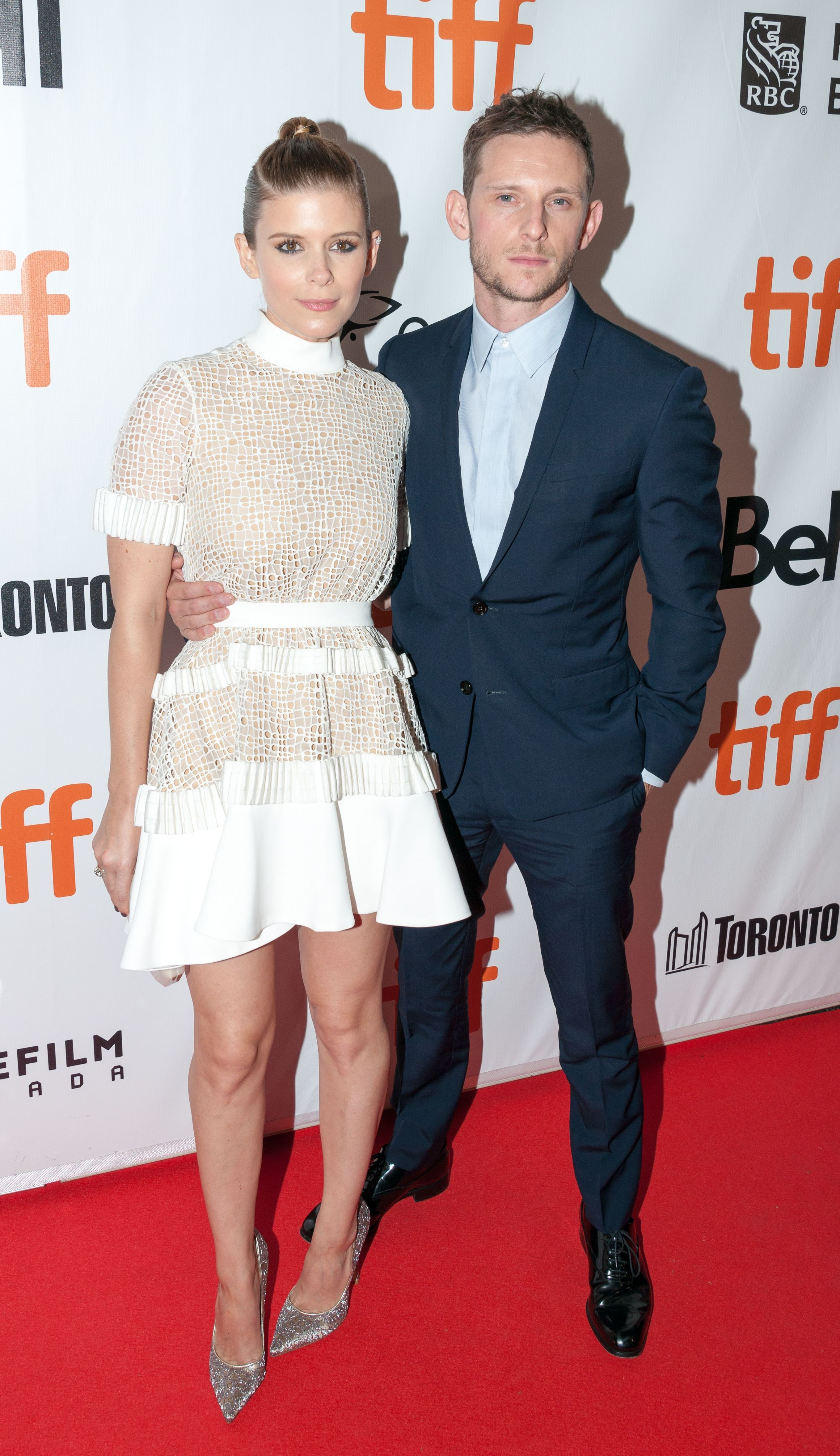 """Kate Mara and Jamie Bell attend the """"Film Stars Don't Die in Liverpool"""" film premiere at the Toronto International Film Festival on Sept. 12, 2017."""