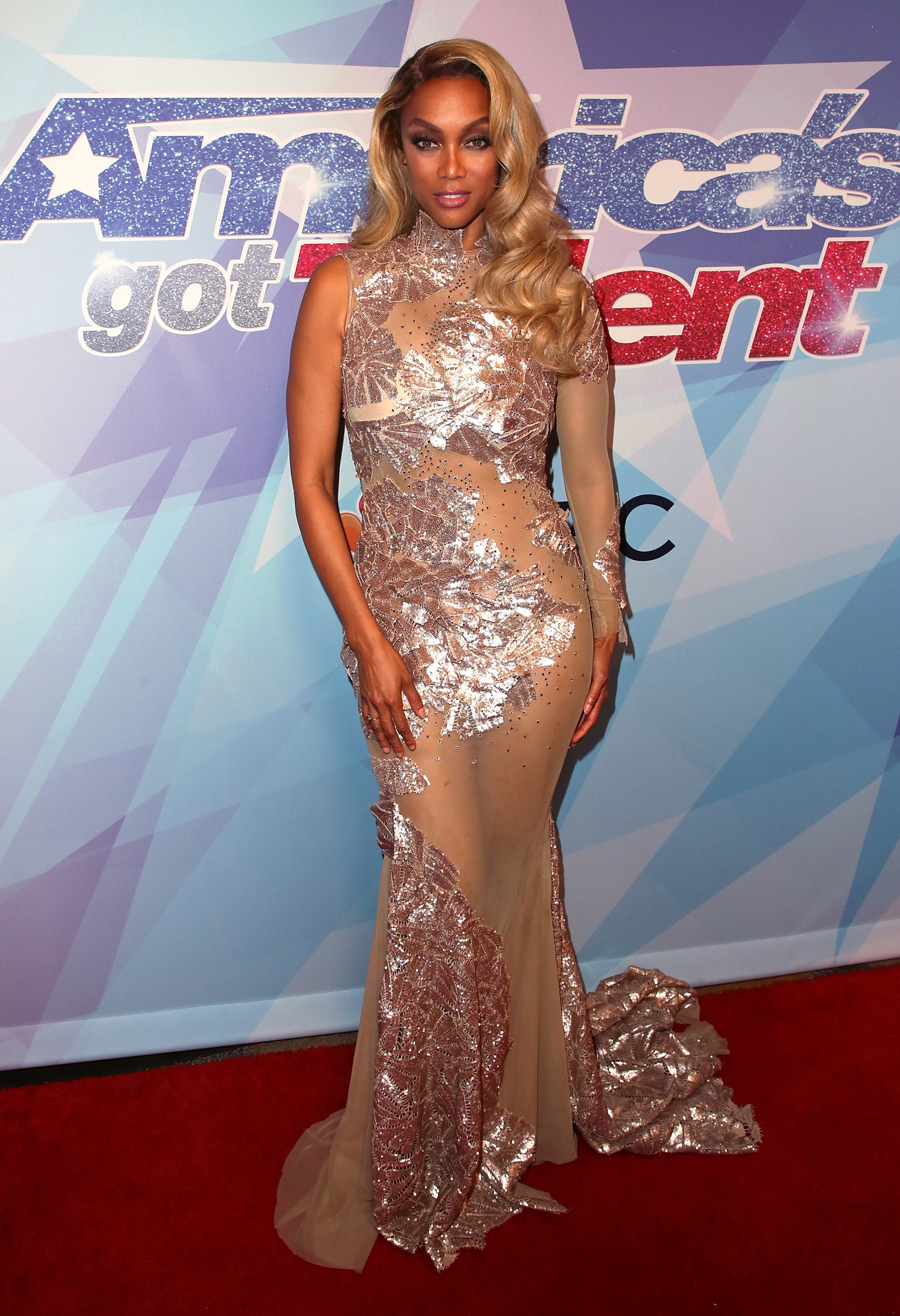 """Tyra Banks attends NBC's """"America's Got Talent"""" Season 12 live show at Dolby Theatre in Hollywood, Calif., on Sept. 12, 2017."""