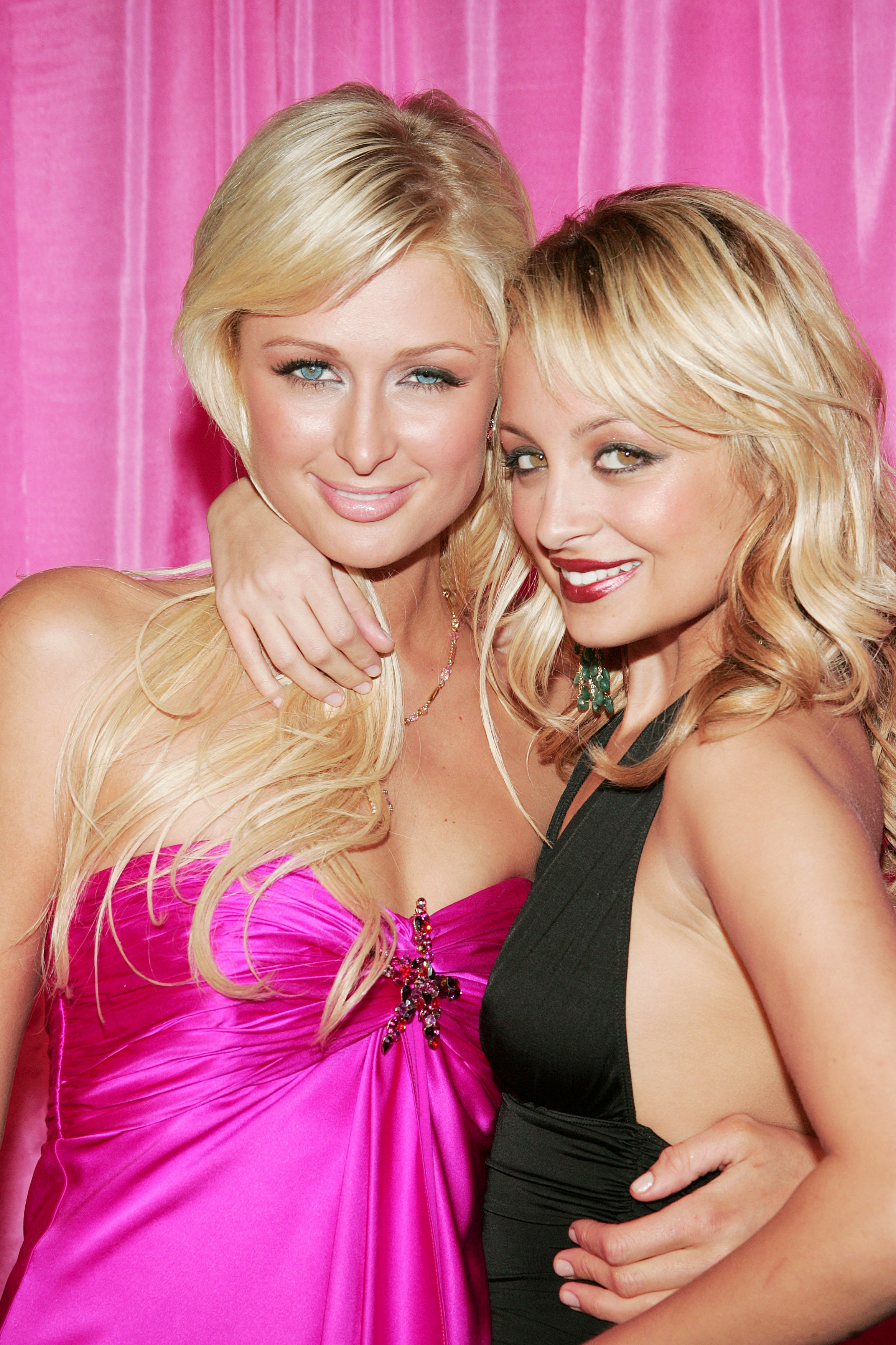 """Paris Hilton and Nicole Richie attend the """"Simple Life 3"""" wrap party in New York City on Nov. 21, 2004."""