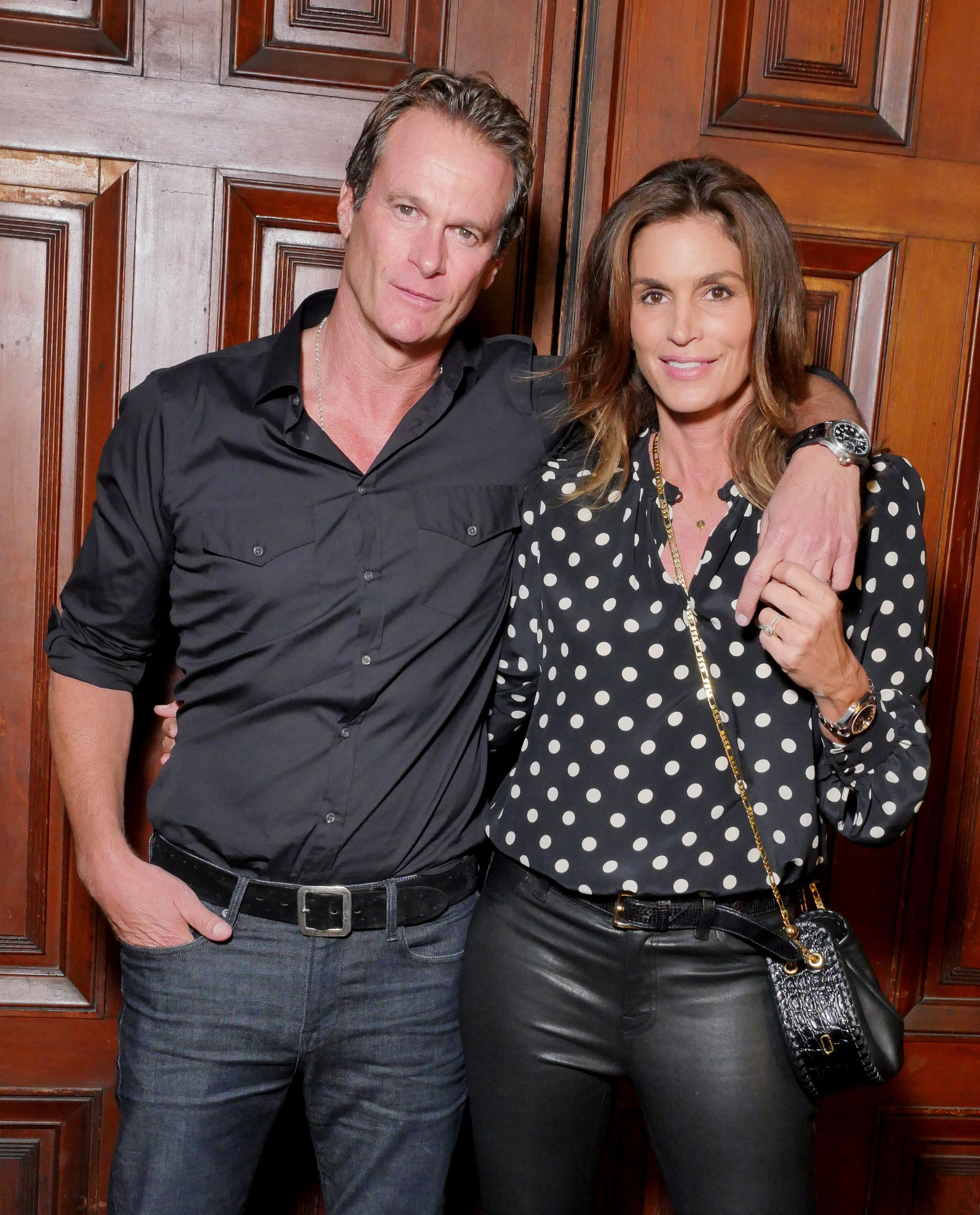Rande Gerber and Cindy Crawford attend the Marc Jacobs show for Spring/Summer 2018 at New York Fashion Week on Sept. 13, 2017.