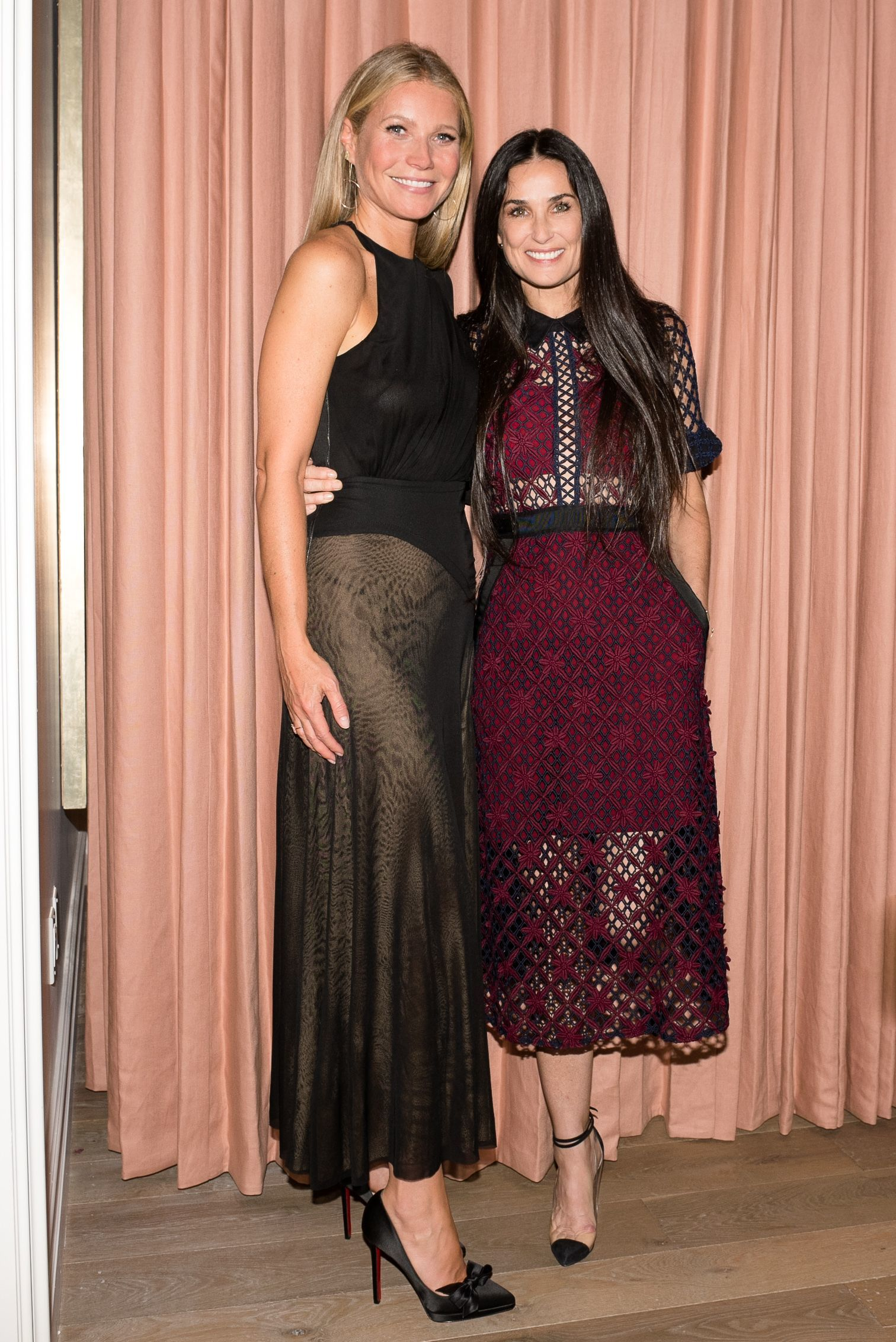 Gwyneth Paltrow and Demi Moore attend the Gwyneth Paltrow And Christian Louboutin Fete The Opening OF Goop Lab: And Unveil The Goop X Christian Louboutin Capsule Collection in Los Angeles on Sept. 14, 2017.