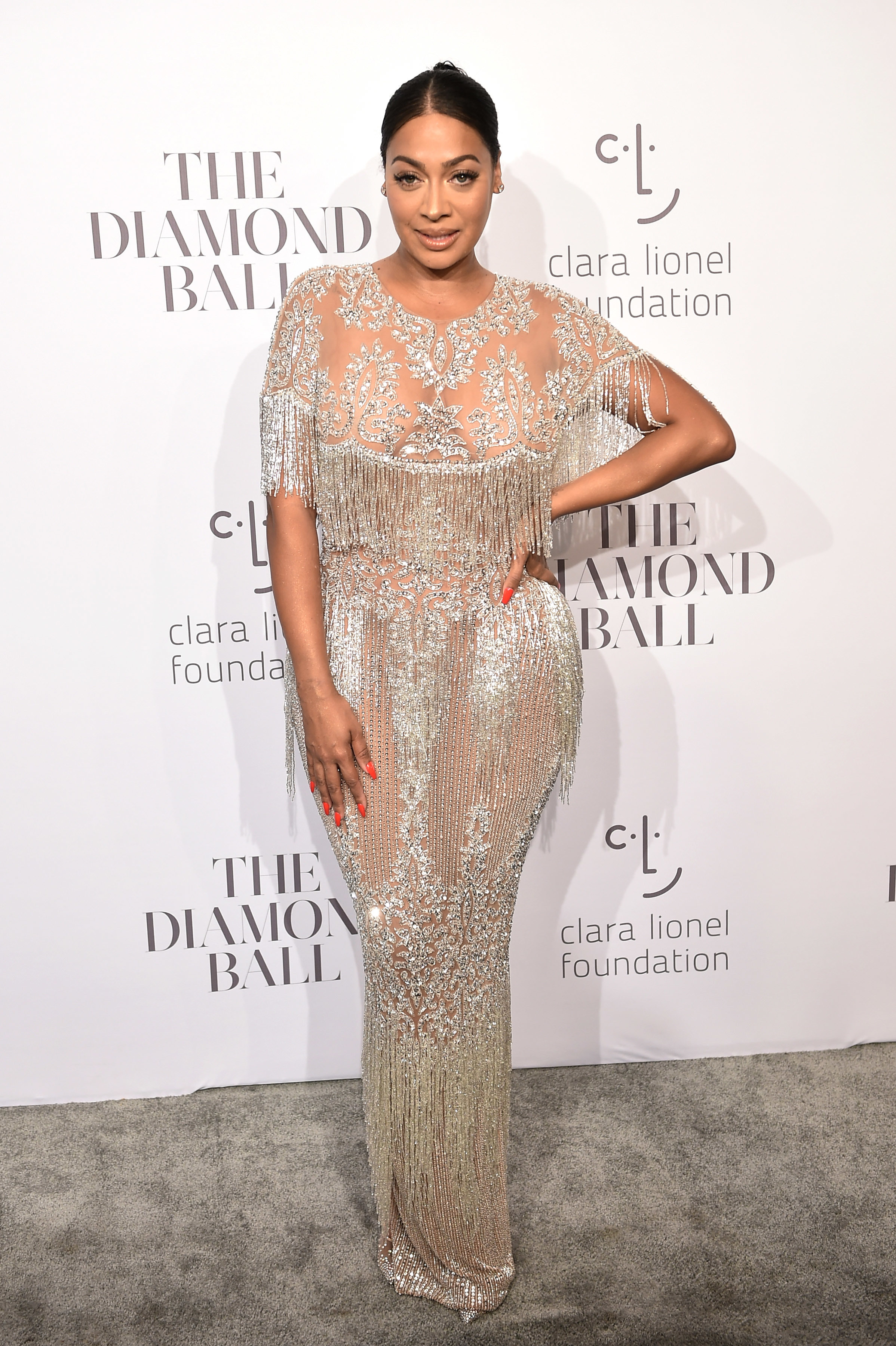 La La Anthony attends Rihanna's 3rd Annual Clara Lionel Foundation Diamond Ball in New York City on Sept. 14, 2017.