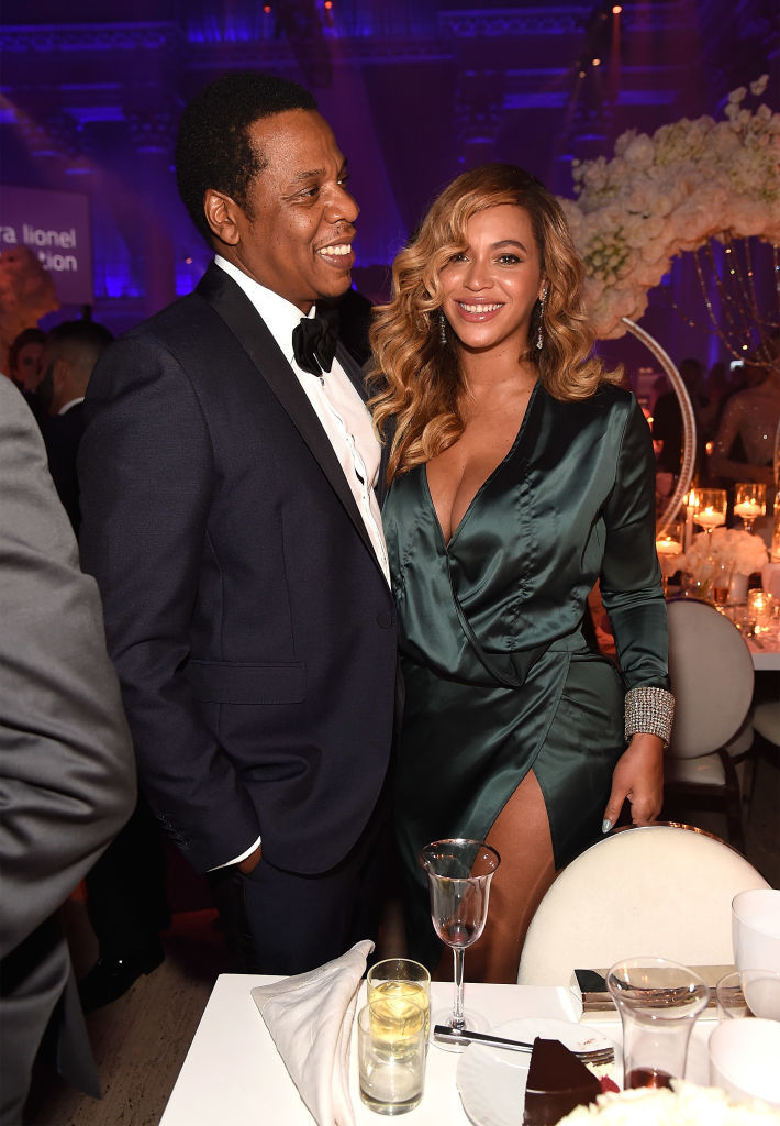 JAY Z and Beyonce attend Rihanna's 3rd Annual Diamond Ball Benefitting The Clara Lionel Foundation at Cipriani Wall Street in New York City on Sept. 14, 2017.