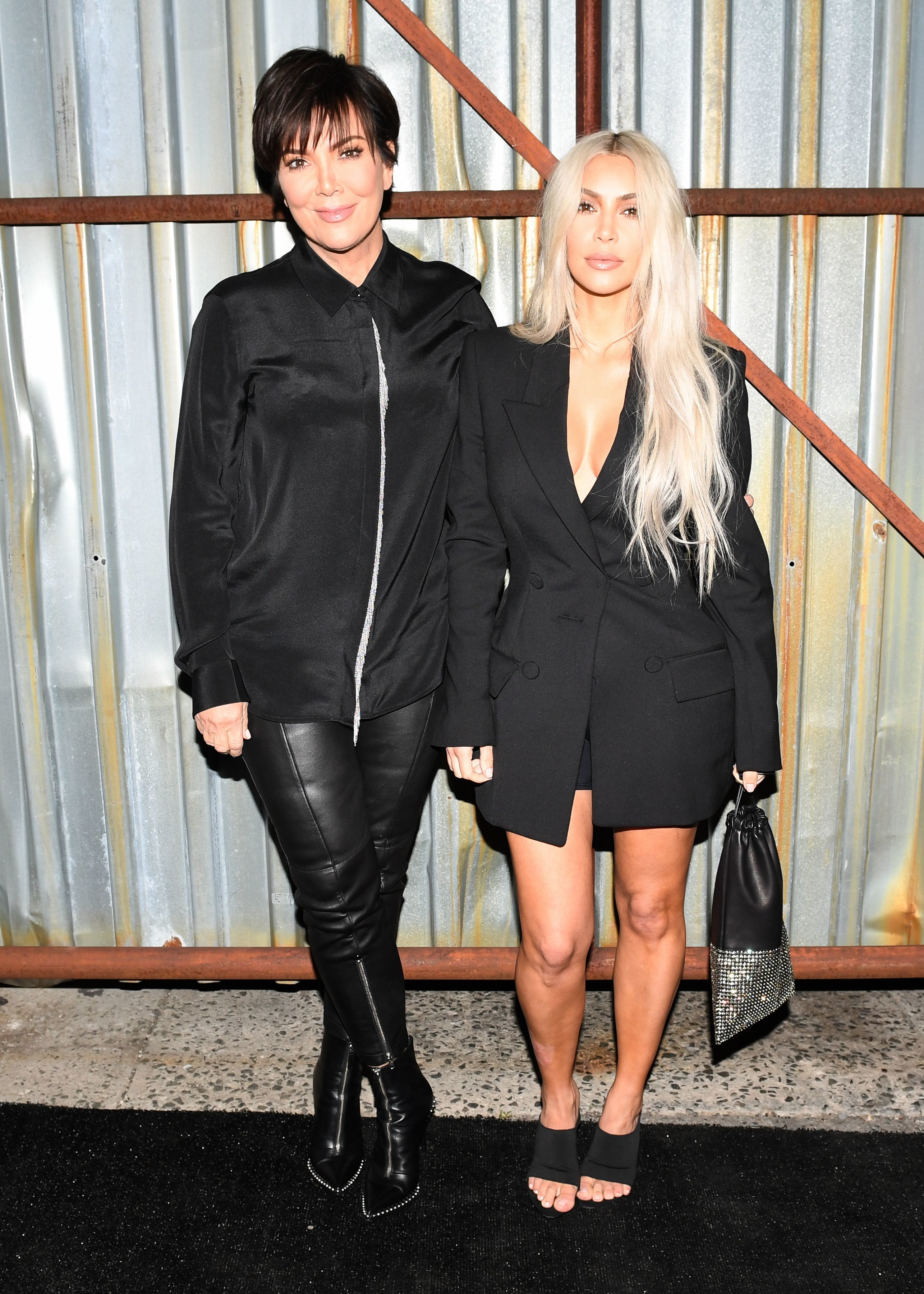 Kris Jenner and Kim Kardashian West attend the Alexander Wang show Spring/Summer 2018 during New York Fashion Week in New York City on Sept. 9, 2017.