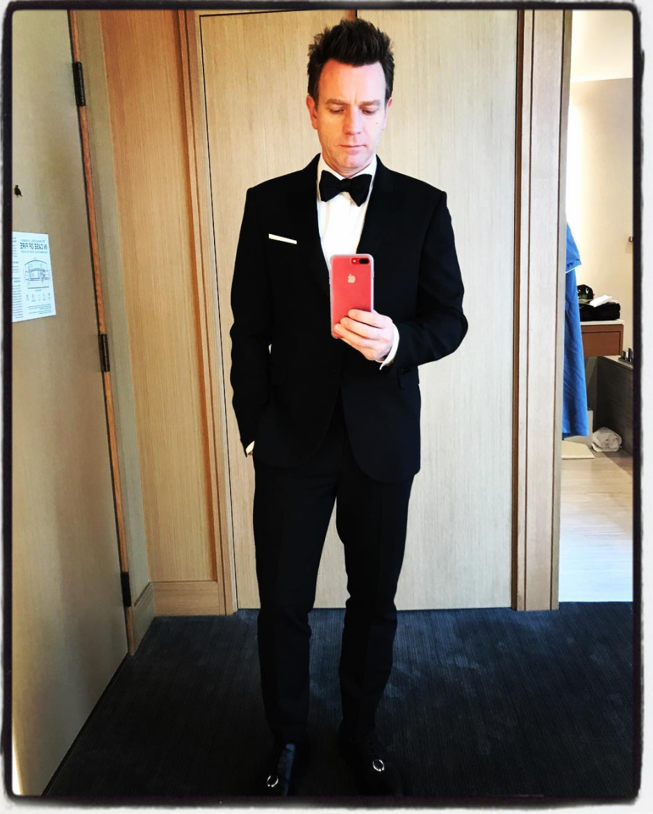 """Emmys. Thanks @neilbarrett for the beautiful clothes.""   Ewan McGregor, who posted this on Sept. 17, 2017"