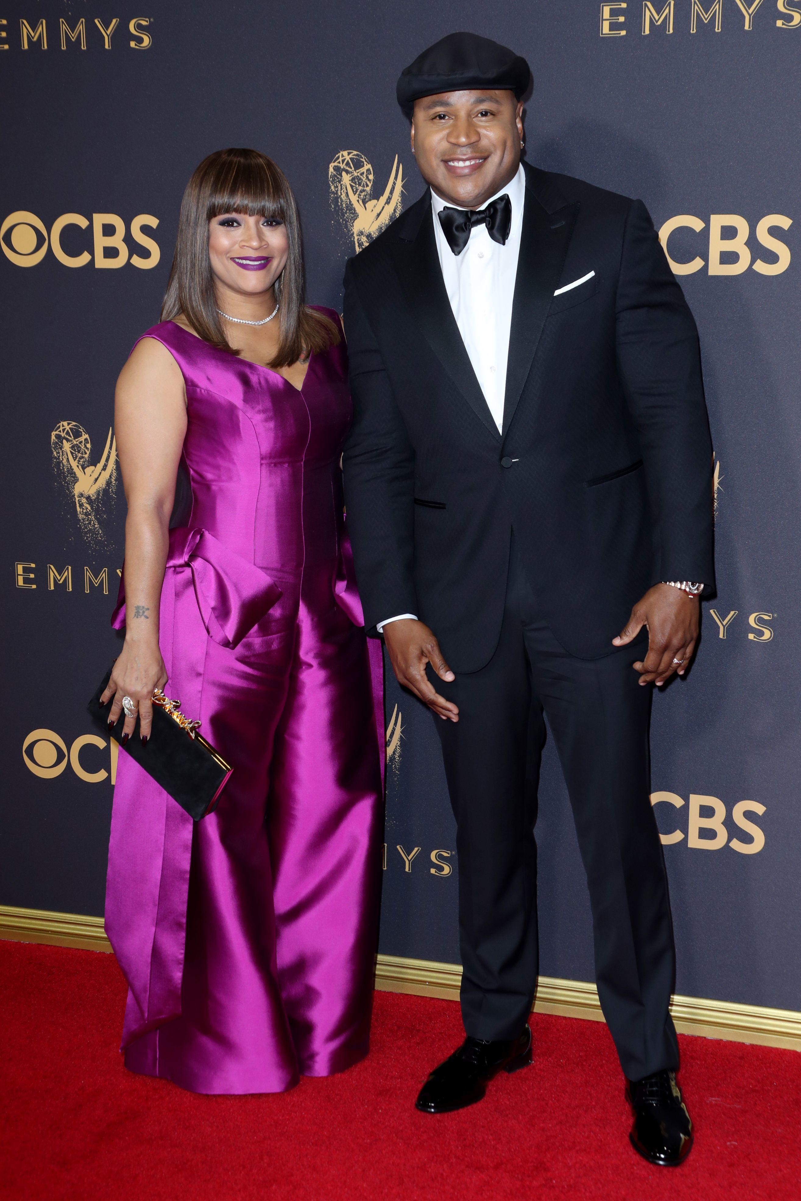LL Cool J and his wife, Simone Smith, attend the 69th Annual Primetime Emmy Awards at the Microsoft Theater in Los Angeles on Sept. 17, 2017.