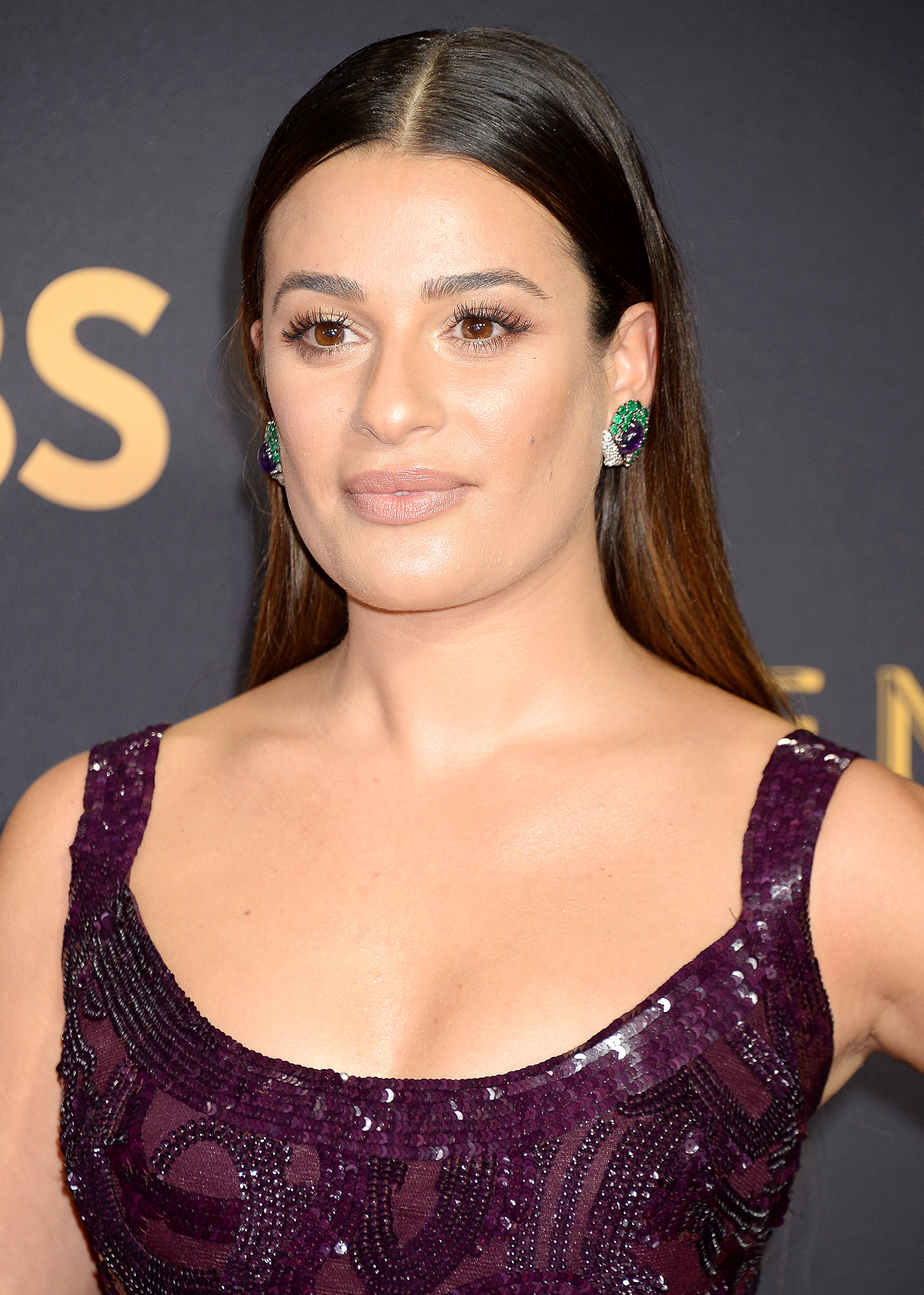 Lea Micheleattends the 69th Annual Primetime Emmy Awards at Microsoft Theater in Los Angeles on Sept. 17, 2017.