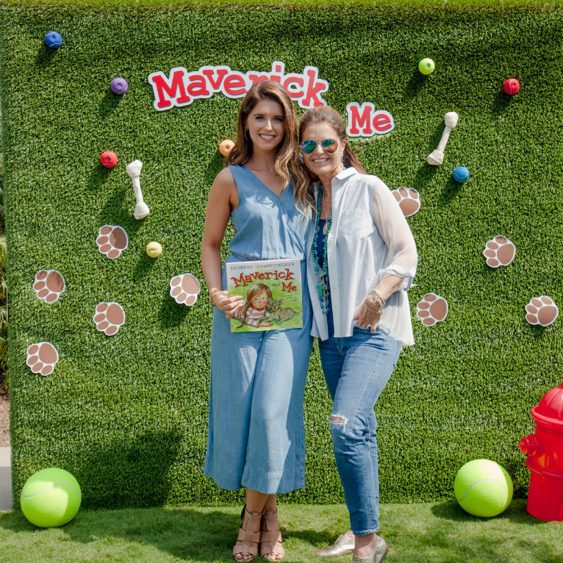 Katherine Schwarzenegger and Maria Shriver attend mom.me Celebrates Maverick & Me with Katherine Schwarzenegger at the Annenberg Pet Space in Los Angeles on Sept. 17, 2017.