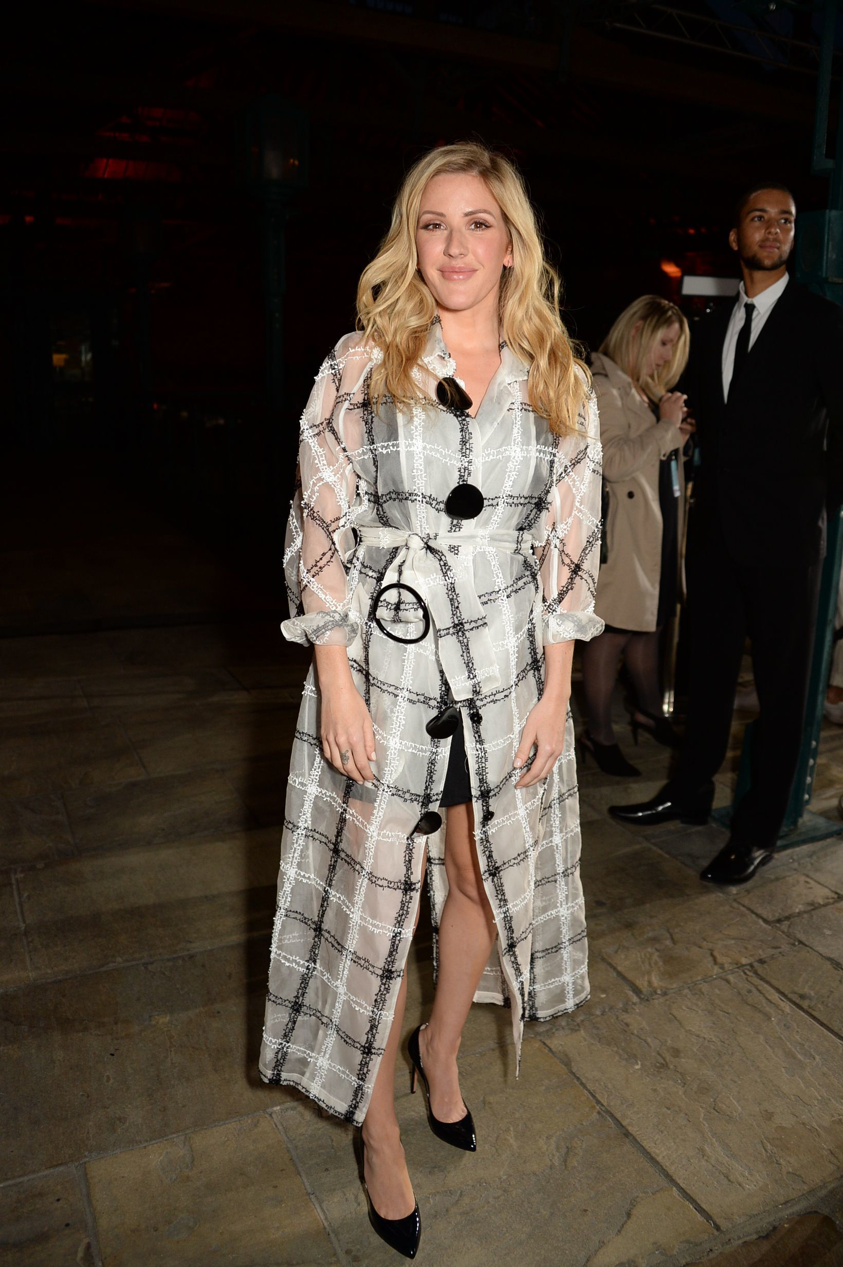 Ellie Goulding attends the Emporio Armani show for Spring/Summer 2018 at London Fashion Week onS ept. 17, 2017.