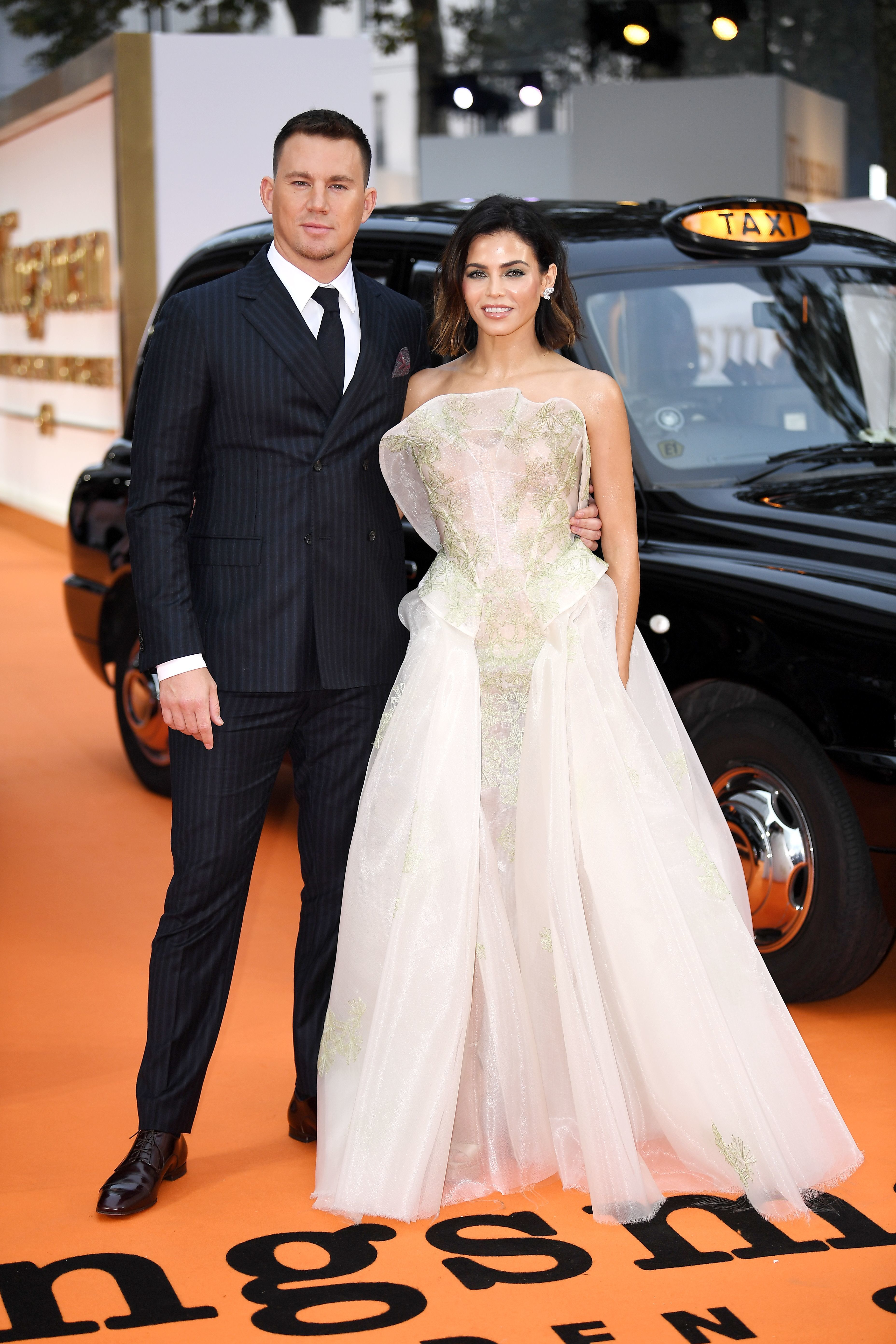 "Channing Tatum and Jenna Dewan attend the ""Kingsman: The Golden Circle"" world film premiere in London on Sept. 18, 2017."