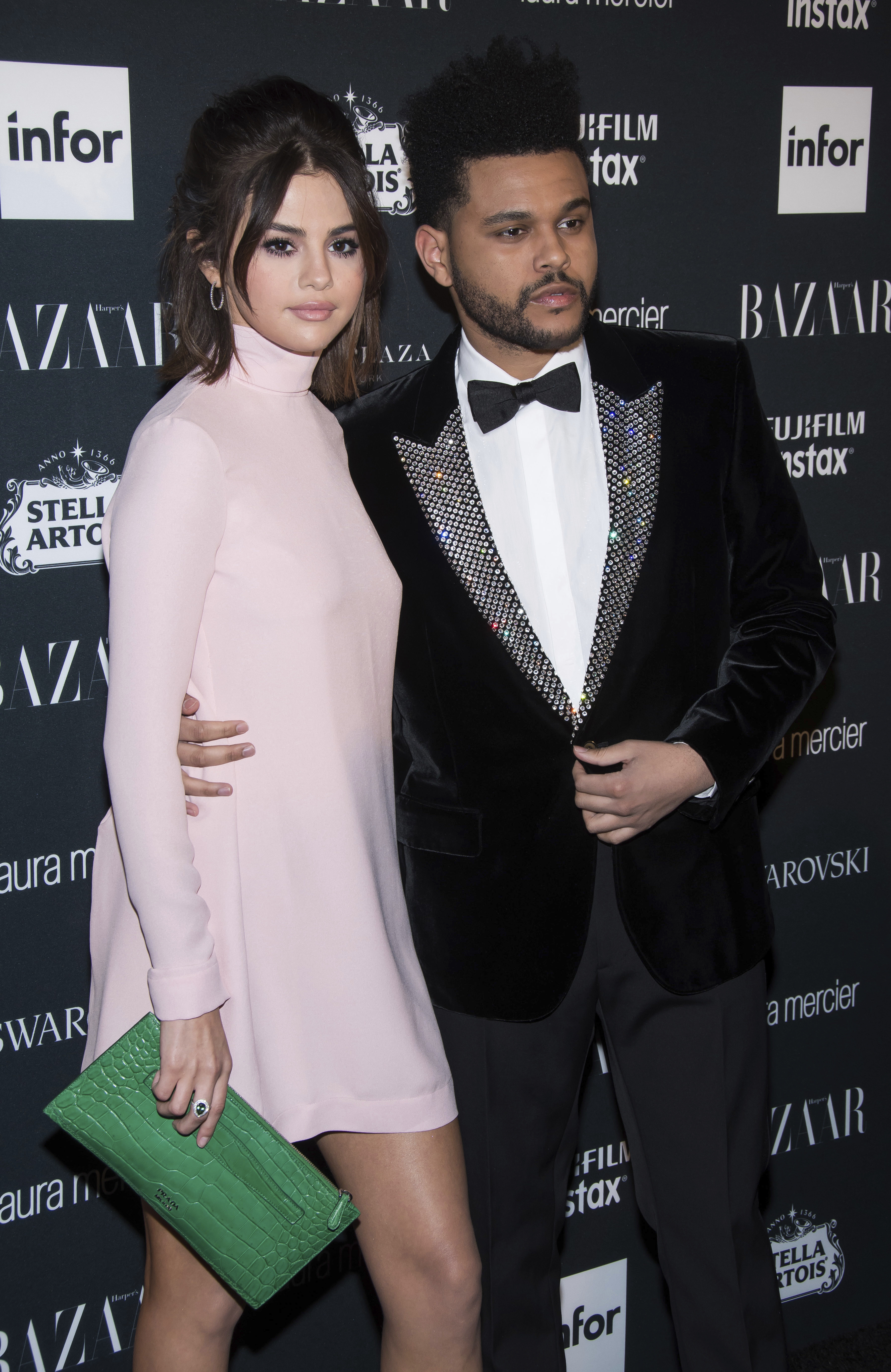 Selena Gomez and The Weeknd attend the Harper's Bazaar ICONS party at New York Fashion Week on Sept. 8, 2017.