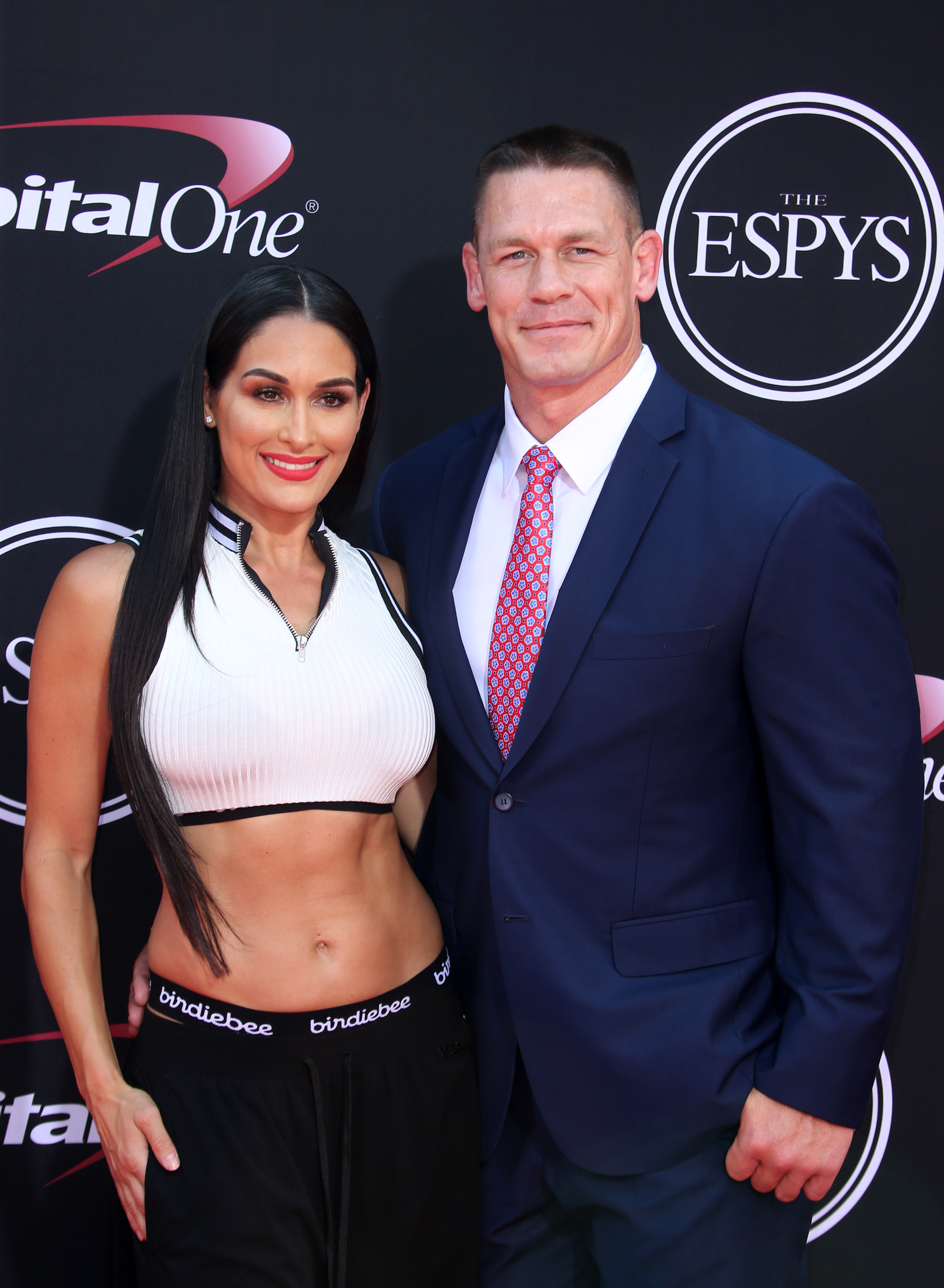 John Cena and Nikki Bella attend the 2017 ESPY Awards in Los Angeles on July 12, 2017.