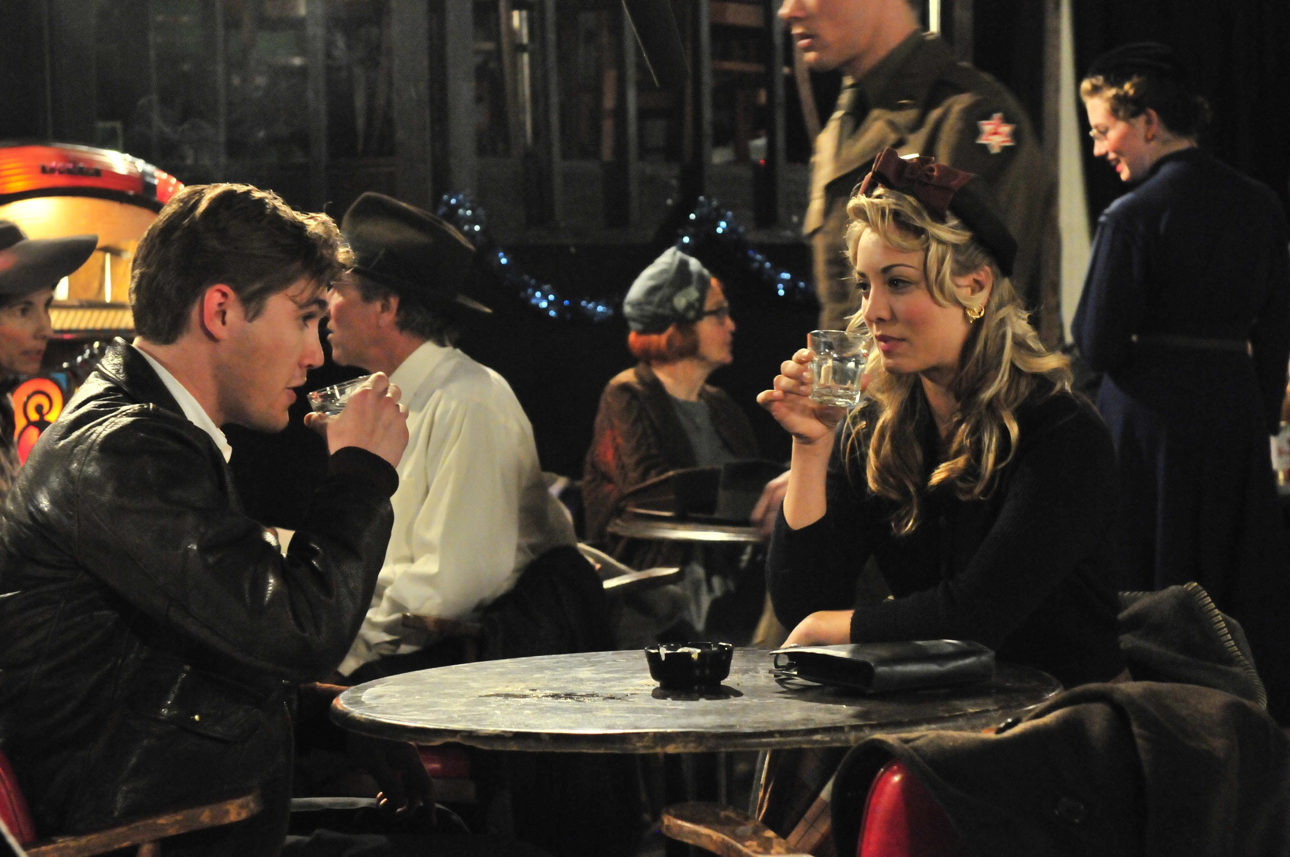 "Jesse James and Kaley Cuoco in this scene still from ""The Last Ride"" in 2012."