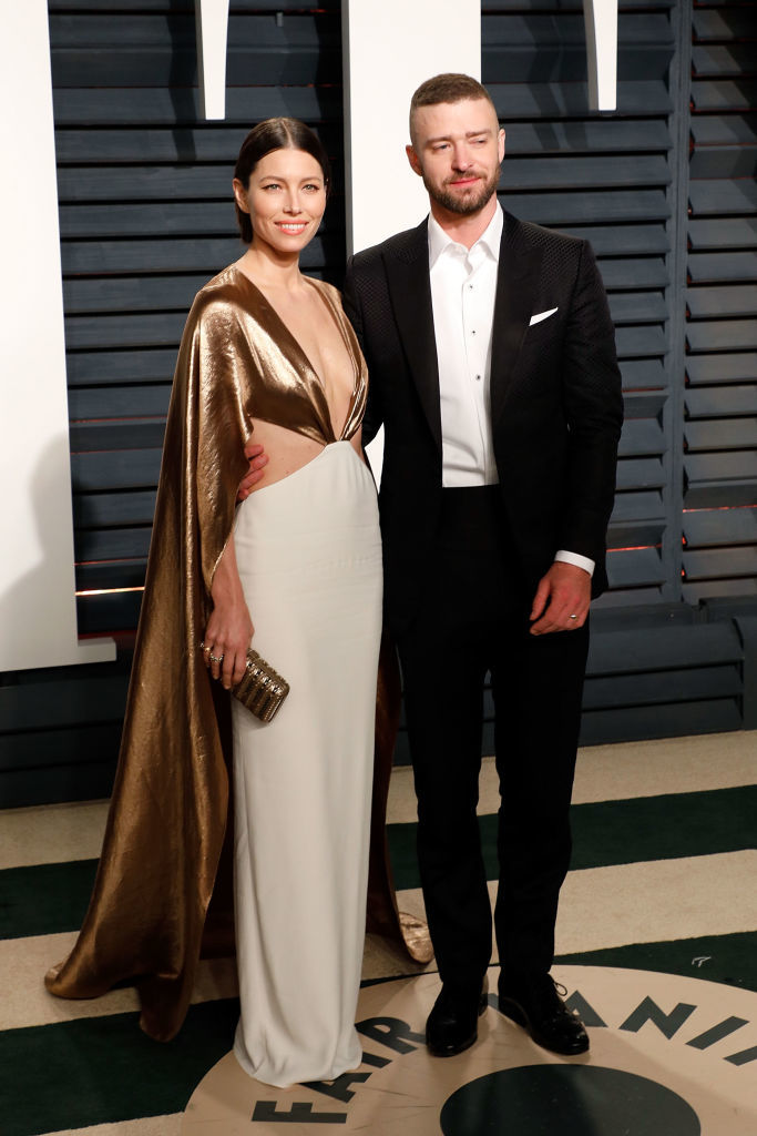 Jessica Biel and Justin Timberlake attend the 2017 Vanity Fair Oscar Party at Wallis Annenberg Center for the Performing Arts in Los Angeles on Feb. 26.