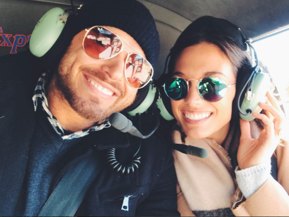 """Grateful for this guy + the adventures we get to go on! 🙃☀️🚁 This was my first time in a helicopter. I was TERRIFIED of getting in a helicopter (which is why I needed to do it, but that's another conversation) and by the time we landed I was hooked. What an incredible experience!! There was nothing to be afraid of! Anyone out there have stories like me where you spent a lot of life in fear of something only to do it and the thing you were afraid of you become a lover of?! Please share!!! I truly believe faith comes by hearing and I love love love hearing other people's faith + overcoming fears stories! Even if it's something small like trying sushi for the first time 😜🍣 I care and I want to know!!!""   Brittany, who posted this sweet snap on Aug. 9, 2017."