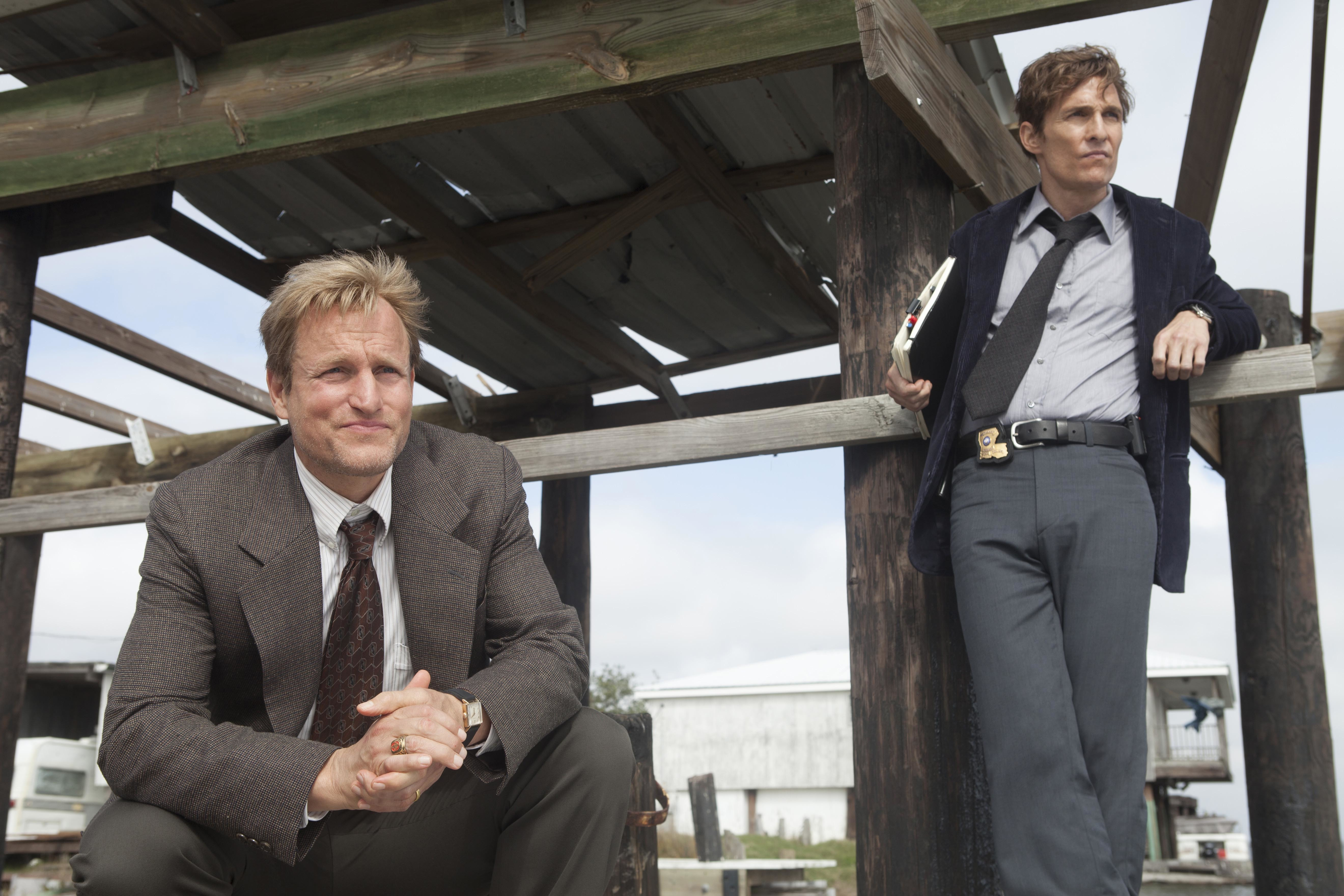 "Woody Harrelson and Matthew McConaughey star in ""True Detective"" in 2014."