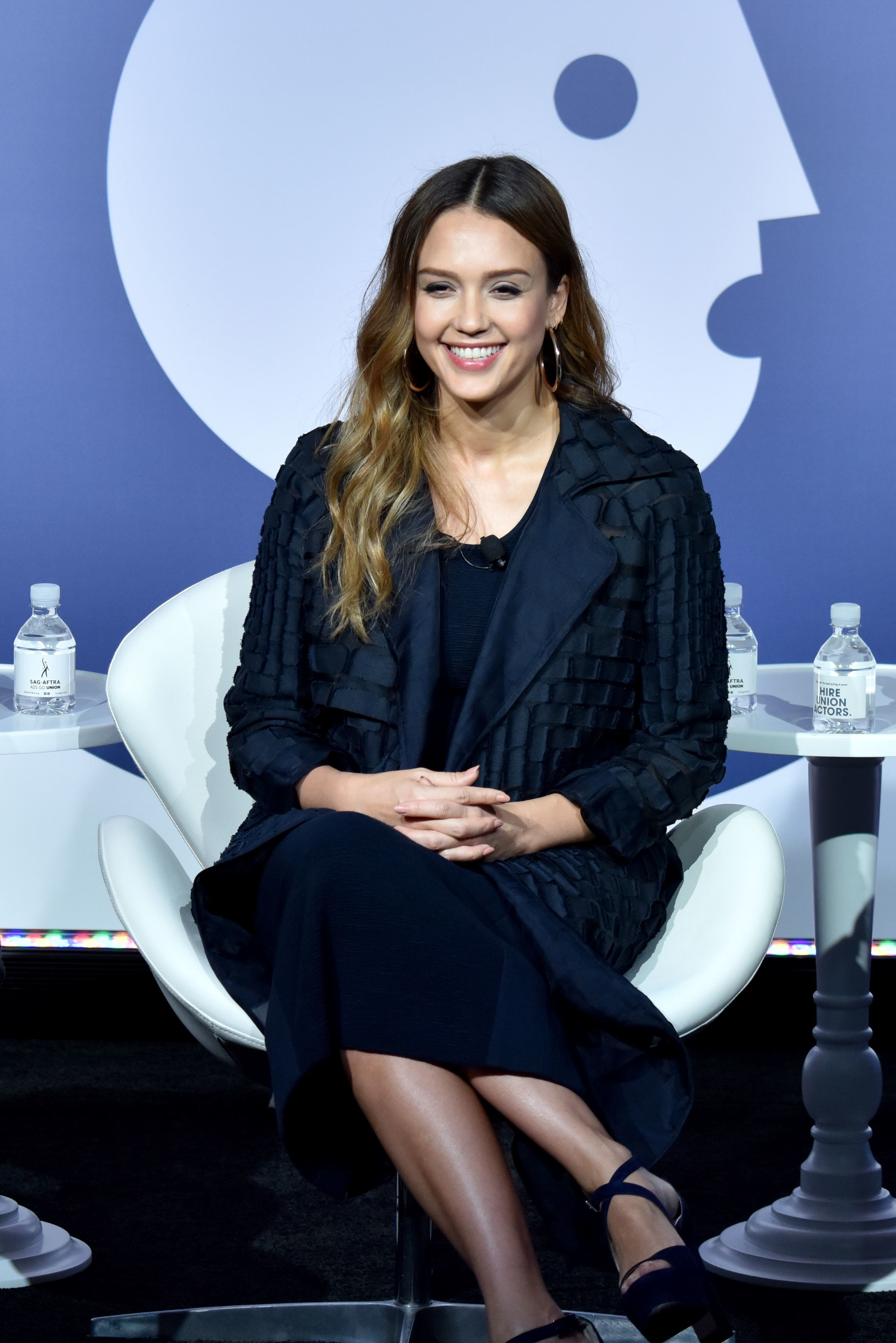 Jessica Alba appears at the Building a Brand in a Mobile First World seminar during Advertising Week New York 2017 on Sept. 26, 2017.