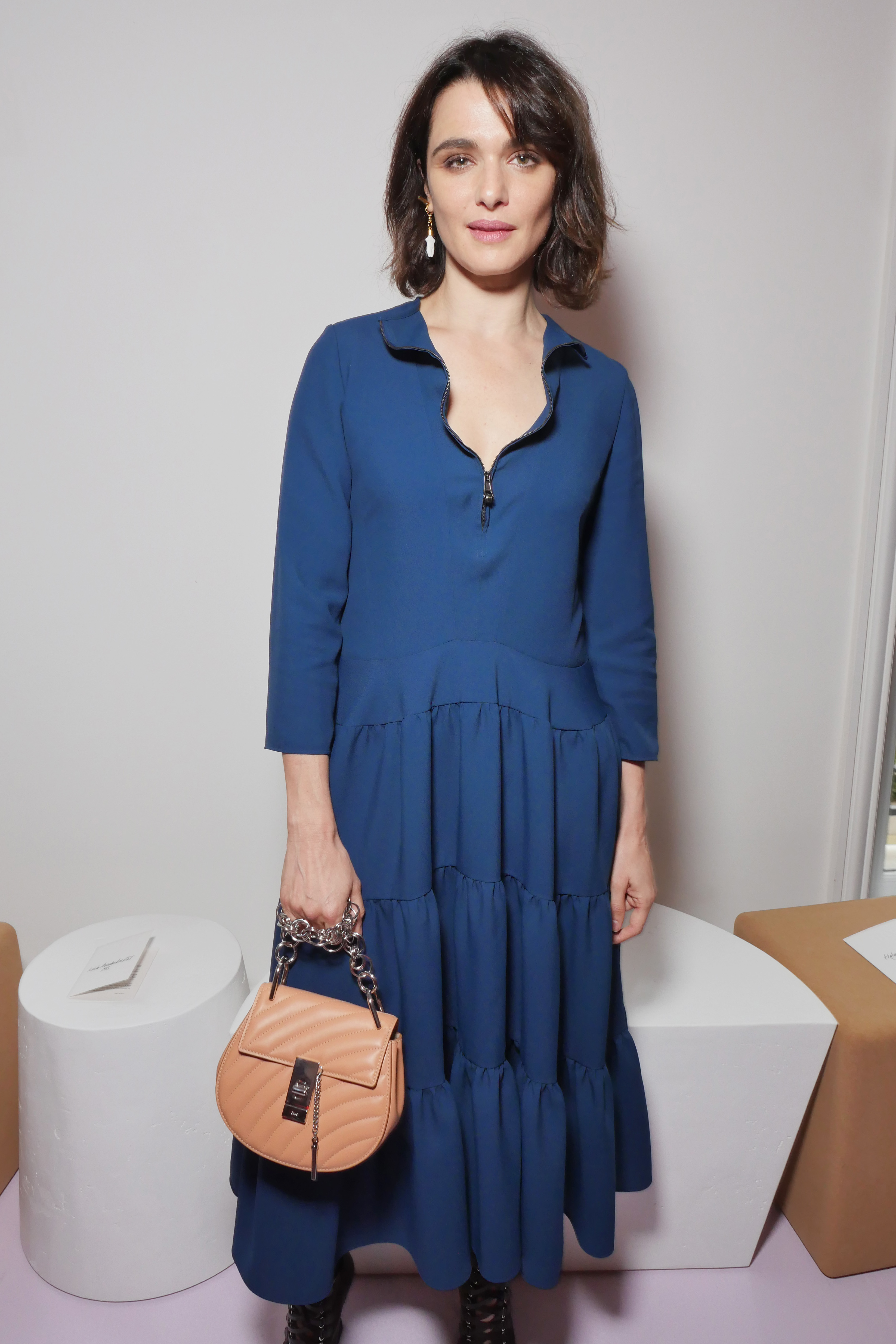 Rachel Weisz attends the Chloe show for Spring/Summer 2018 at Paris Fashion Week on Sept. 28, 2017.