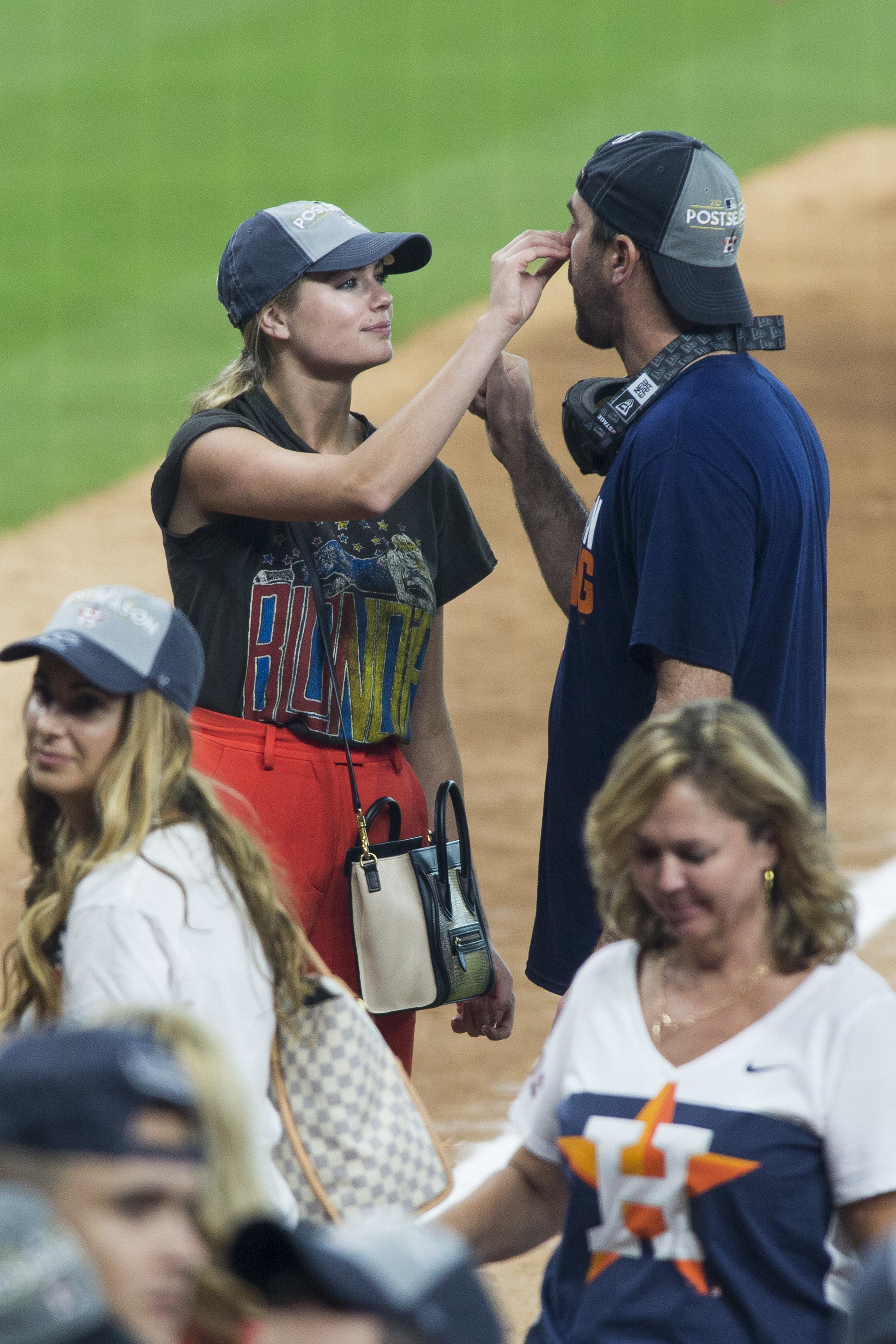 Kate Upton is seen with Justin Verlander in Houston on Sept. 13, 2017.