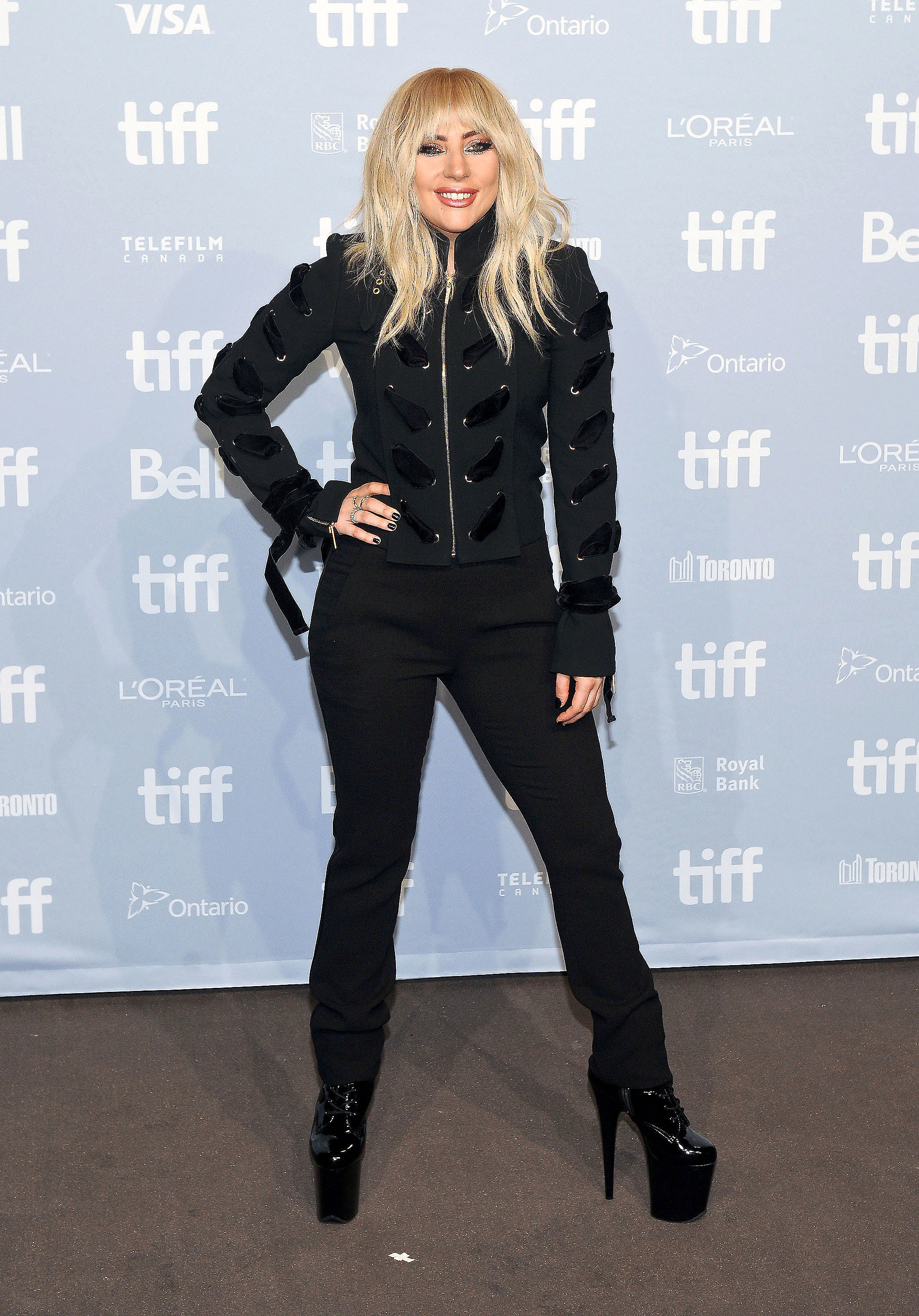Lady Gaga spotted at the 'Lady Gaga: Five Foot Two' Press Conference during the 2017 Toronto International Film Festival in Toronto on Sept. 8, 2017.