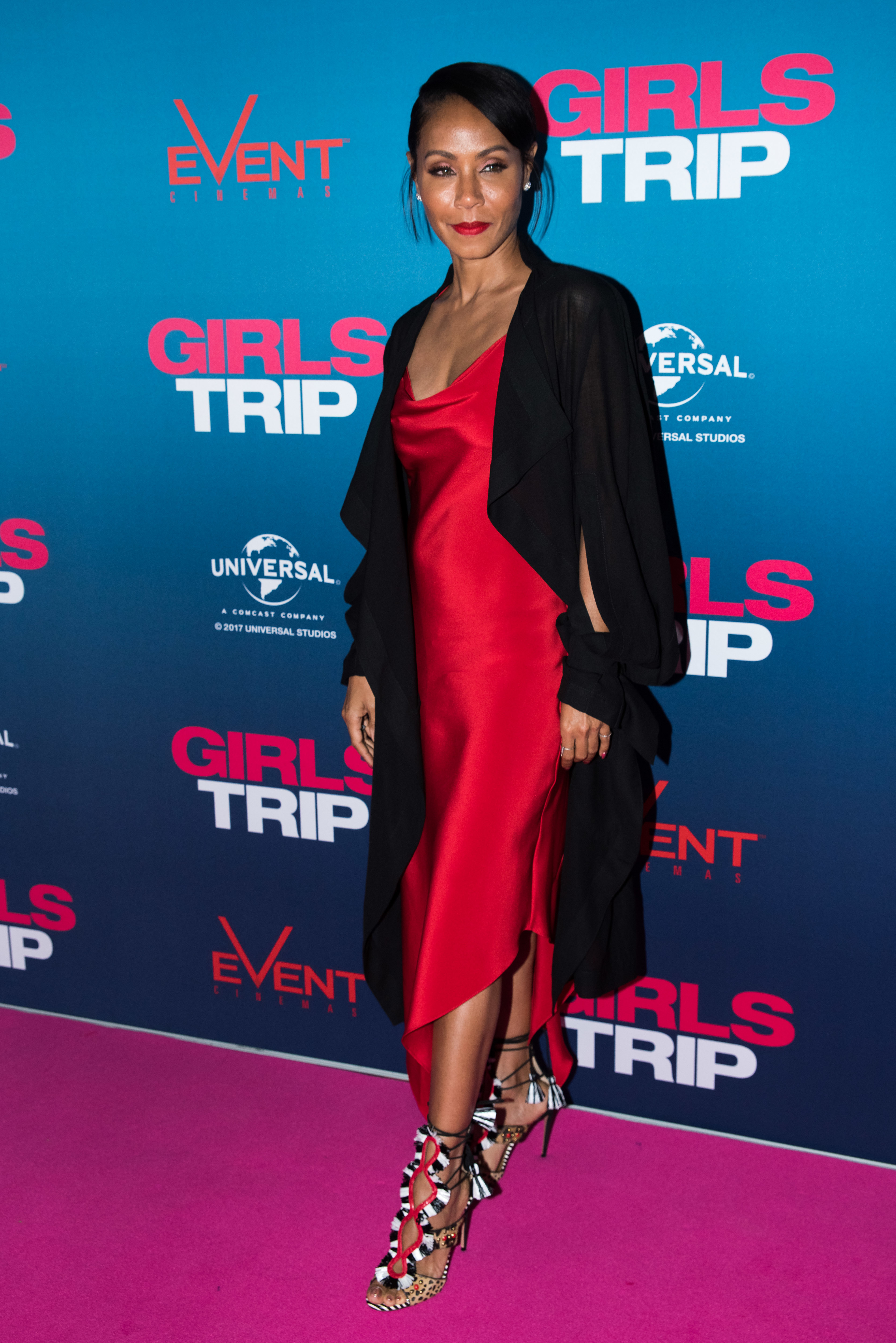"Jada Pinkett Smith attends the premiere of ""Girls Trip"" in Sydney on Aug. 3, 2017."