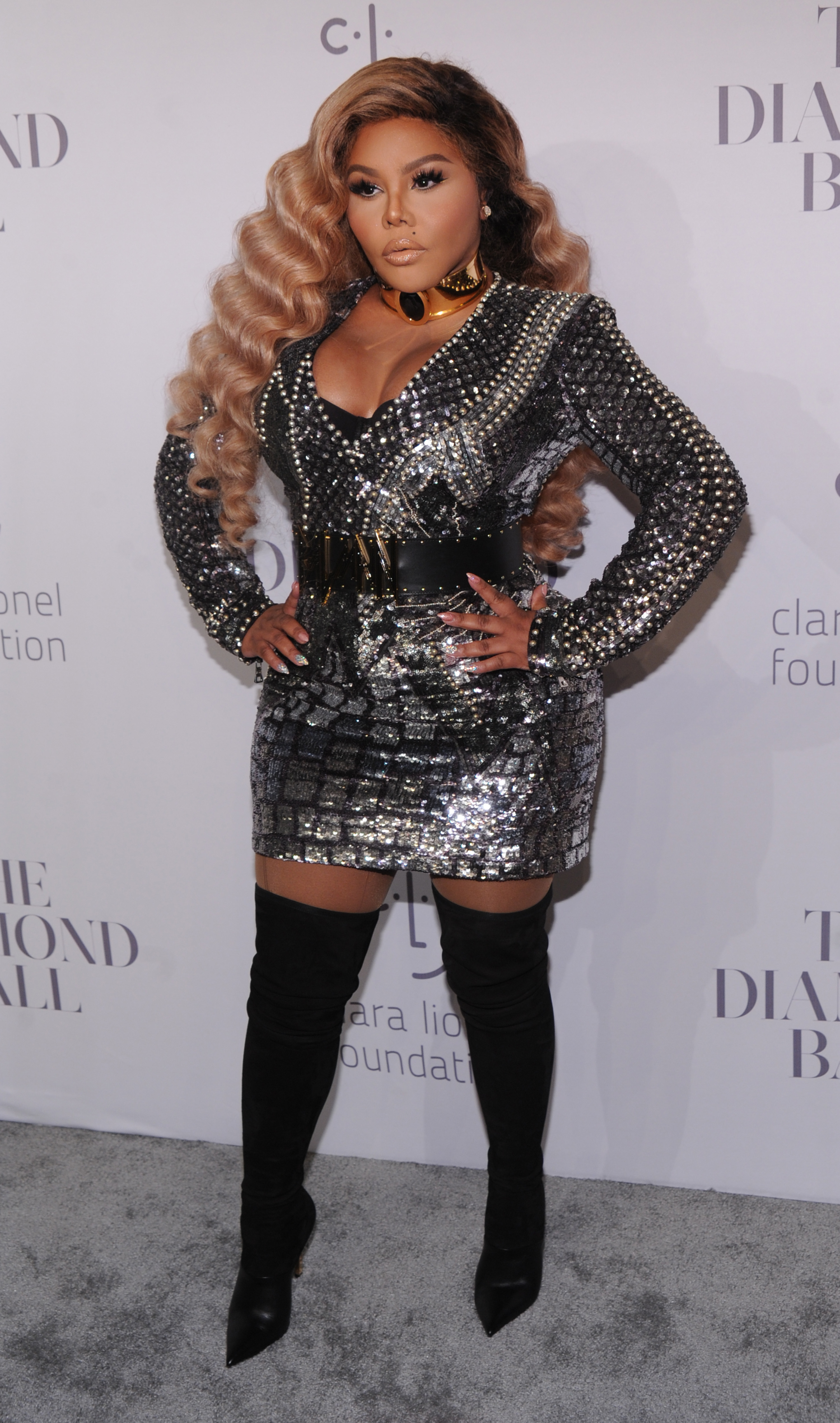 Lil' Kim attends Rihanna's 3rd Annual Diamond Ball at Cipriani Wall Street in New York City on Sept. 14, 2017.