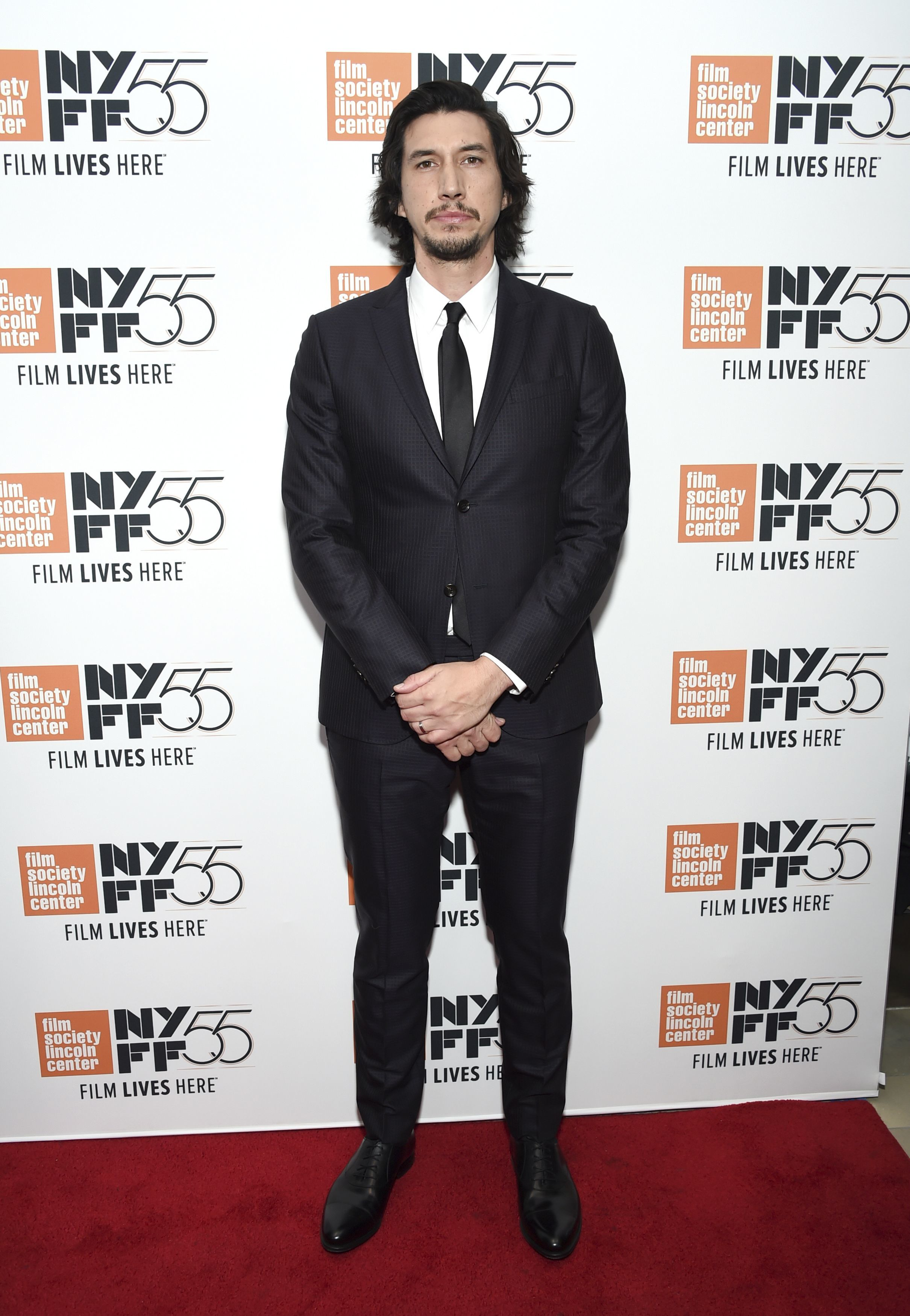 """Adam Driver attends the 55th New York Film Festival premiere of """"The Meyerowitz Stories"""" at Alice Tully Hall on Oct. 1, 2017."""