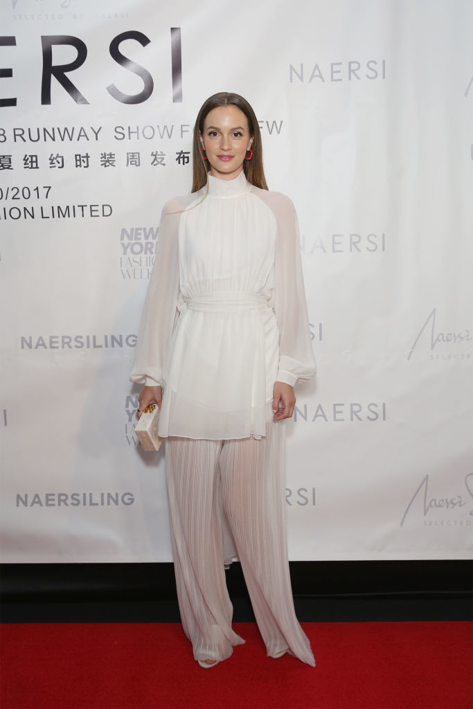Leighton Meester attends the Naersi fashion show during New York Fashion Week: The Shows at American Museum of Natural History in New York City on September 10, 2017.